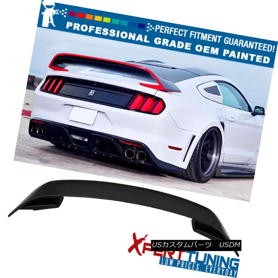 エアロパーツ 15-18 Ford Mustang GT350 V2 Painted Trunk Spoiler - OEM Painted Color 15-18フォードマスタングGT350 V2塗装トランクスポイラー - OEM塗装色