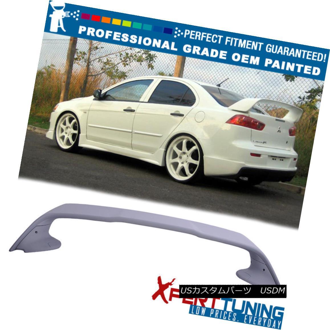 エアロパーツ 08-17 Mitsubishi Lancer Painted ABS Trunk Spoiler - OEM Painted Color 08-17三菱ランサー塗装ABSトランク・スポイラー - OEM塗装色