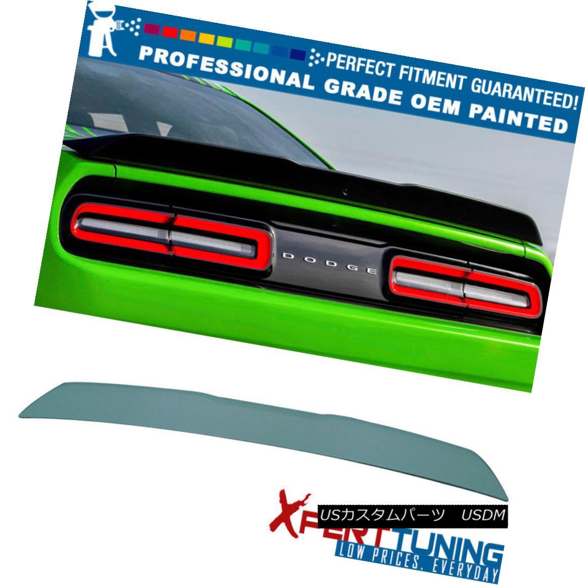 エアロパーツ Fit 08-16 Challenger Hellcat Type Painted Trunk Spoiler - OEM Painted Color フィット08-16チャレンジャーヘルキャットタイプ塗装トランクスポイラー - OEM塗装カラー