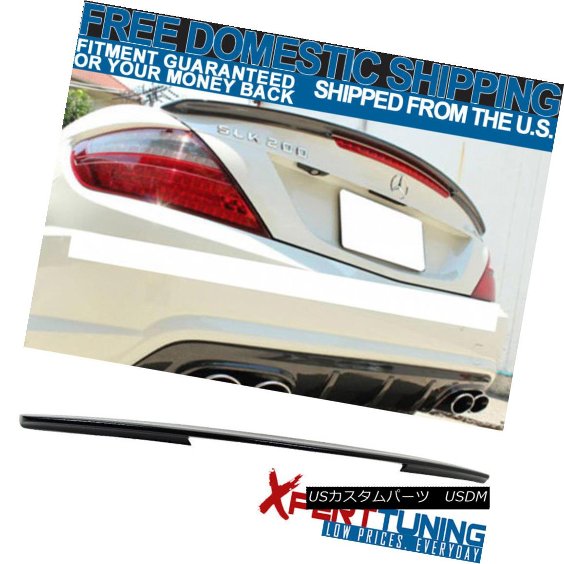 エアロパーツ Open Box Fits 11-13 Benz SLK Class R172 AMG Style Trunk Spoiler Carbon Fiber CF オープンボックスは11-13ベンツに適合SLKクラスR172 AMGスタイルトランクスポイラー炭素繊維CF