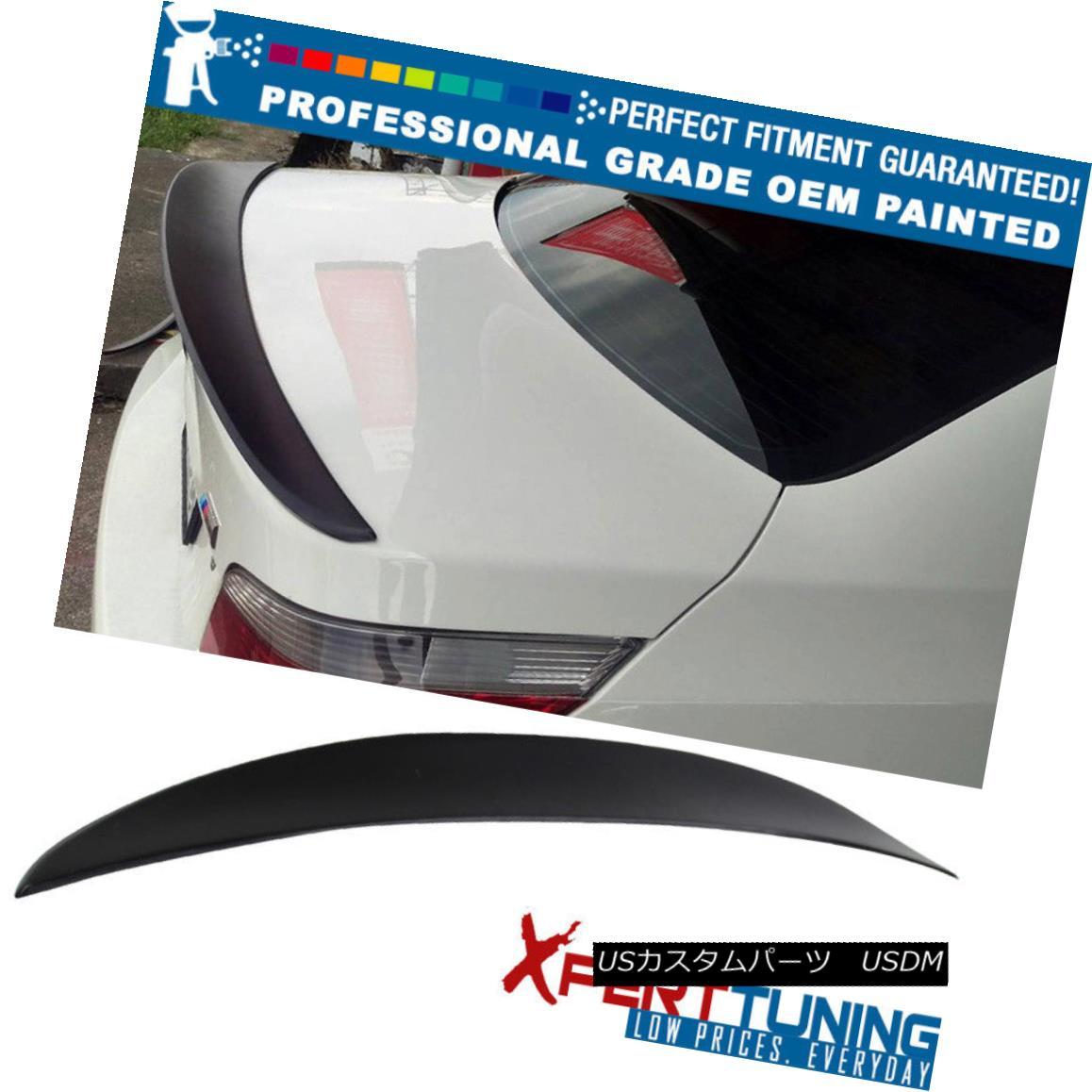 エアロパーツ Fits 04-10 5 Series E60 High Kick Performance Trunk Spoiler - OEM Painted Color フィット04-10 5シリーズE60ハイキックパフォーマンストランクスポイラー - OEM塗装色
