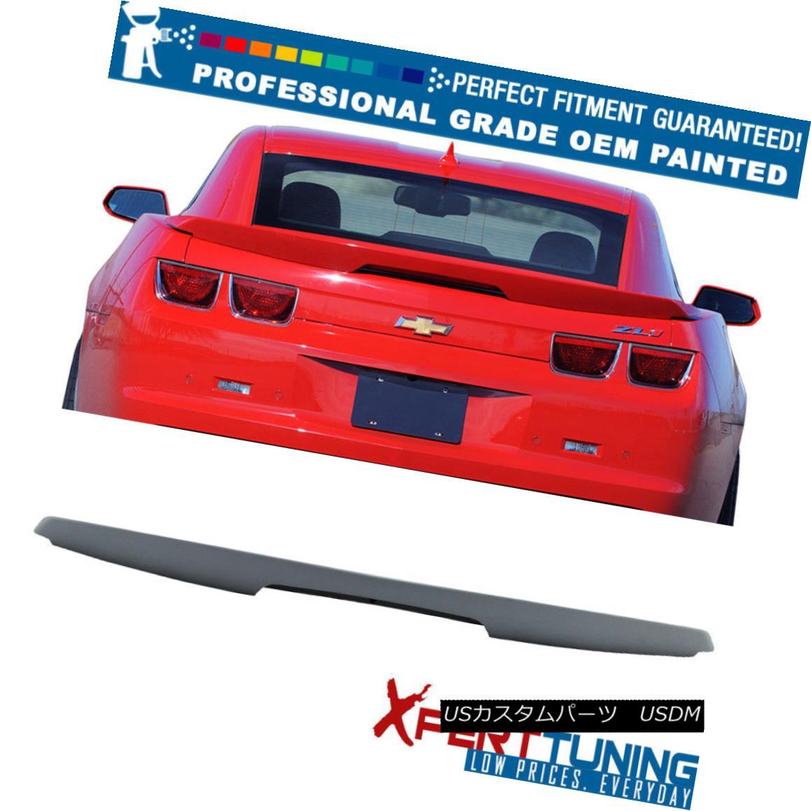 エアロパーツ 10-13 Chevy Camaro ZL1 Style Painted ABS Trunk Spoiler LED - OEM Painted Color 10-13シボレーカマロZL1スタイル塗装ABSトランクスポイラーLED - OEM塗装カラー