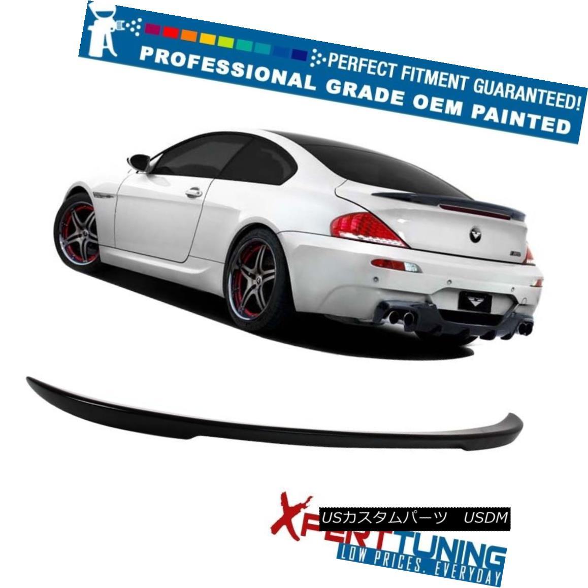 エアロパーツ 04-08 E63 BMW 6-Series 2D ABS Trunk Spoiler V Style - OEM Painted Color 04-08 E63 BMW 6シリーズ2D ABSトランク・スポイラーVスタイル - OEM塗装カラー