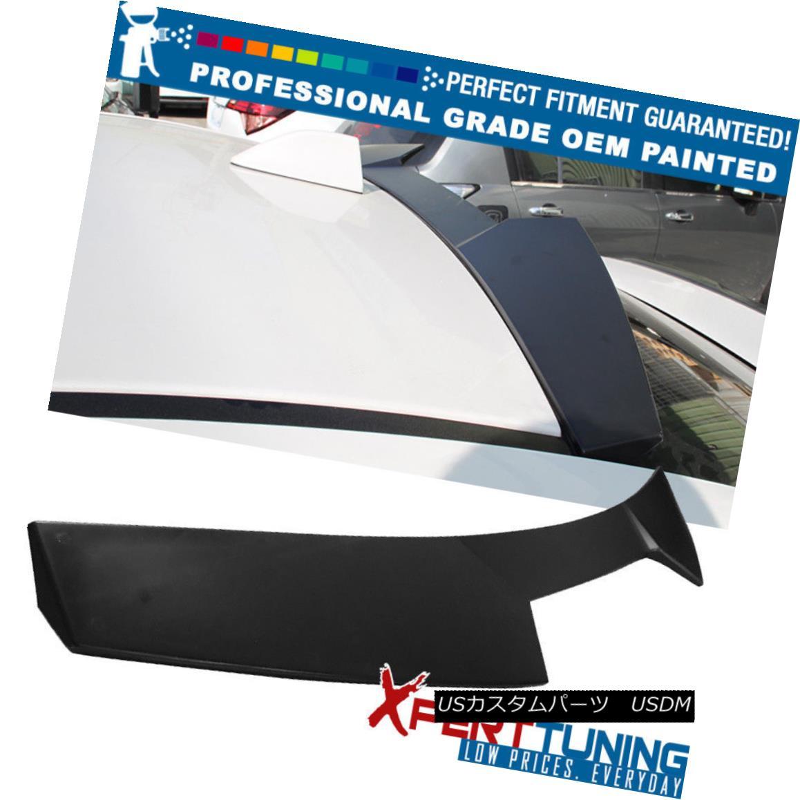 エアロパーツ Fits 15-18 Subaru WRX STI 4Dr V2 Style Roof Spoiler Wing - OEM Painted Color スバルWRX STI 4Dr V2スタイルルーフスポイラーウィング - OEM塗装カラー15-18フィート