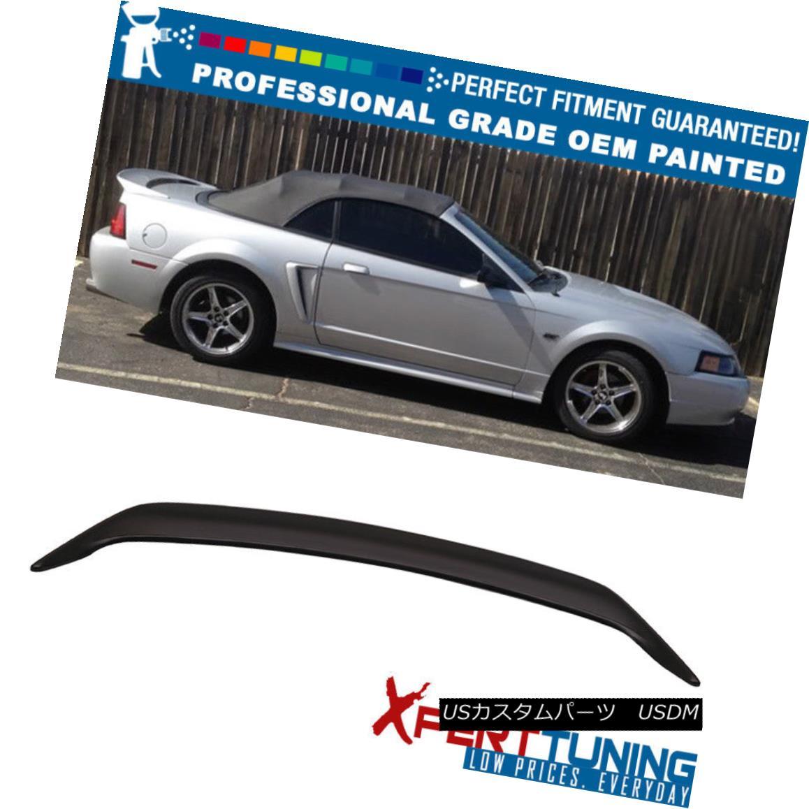 エアロパーツ Fits 99-04 Ford Mustang OE Factory Style Trunk Spoiler Wing - OEM Painted Color 99-04 Ford Mustang OE工場スタイルのトランク・スポイラー・ウィング - OEM塗装カラーに適合