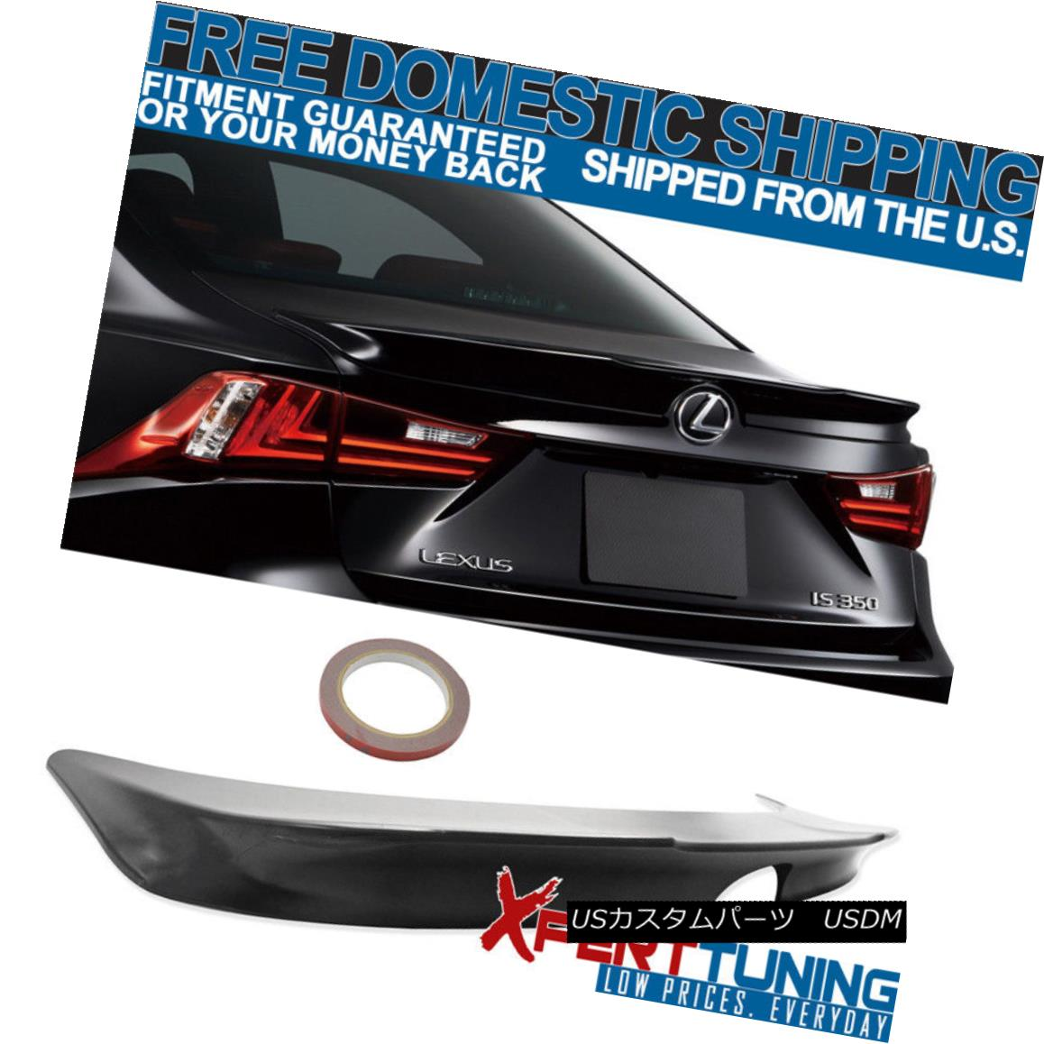 エアロパーツ FITs 14-16 Lexus IS250 IS300 IS350 F SPORT Unpainted ABS Trunk Spoiler FITs 14-16レクサスIS250 IS300 IS350 Fスポーツ未塗装ABSトランク・スポイラー