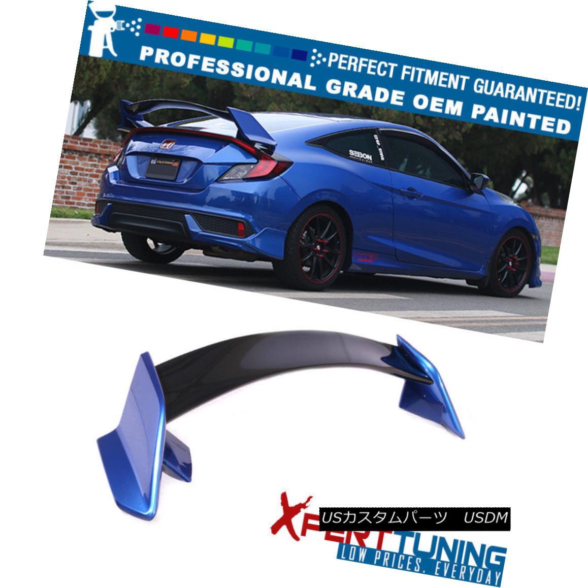 エアロパーツ 16-18 Honda Civic X 10th Gen Coupe 2Dr Type R Trunk Spoiler - OEM Painted Color 16-18ホンダシビックX第10世代クーペ2DrタイプRトランクスポイラー - OEM塗装色