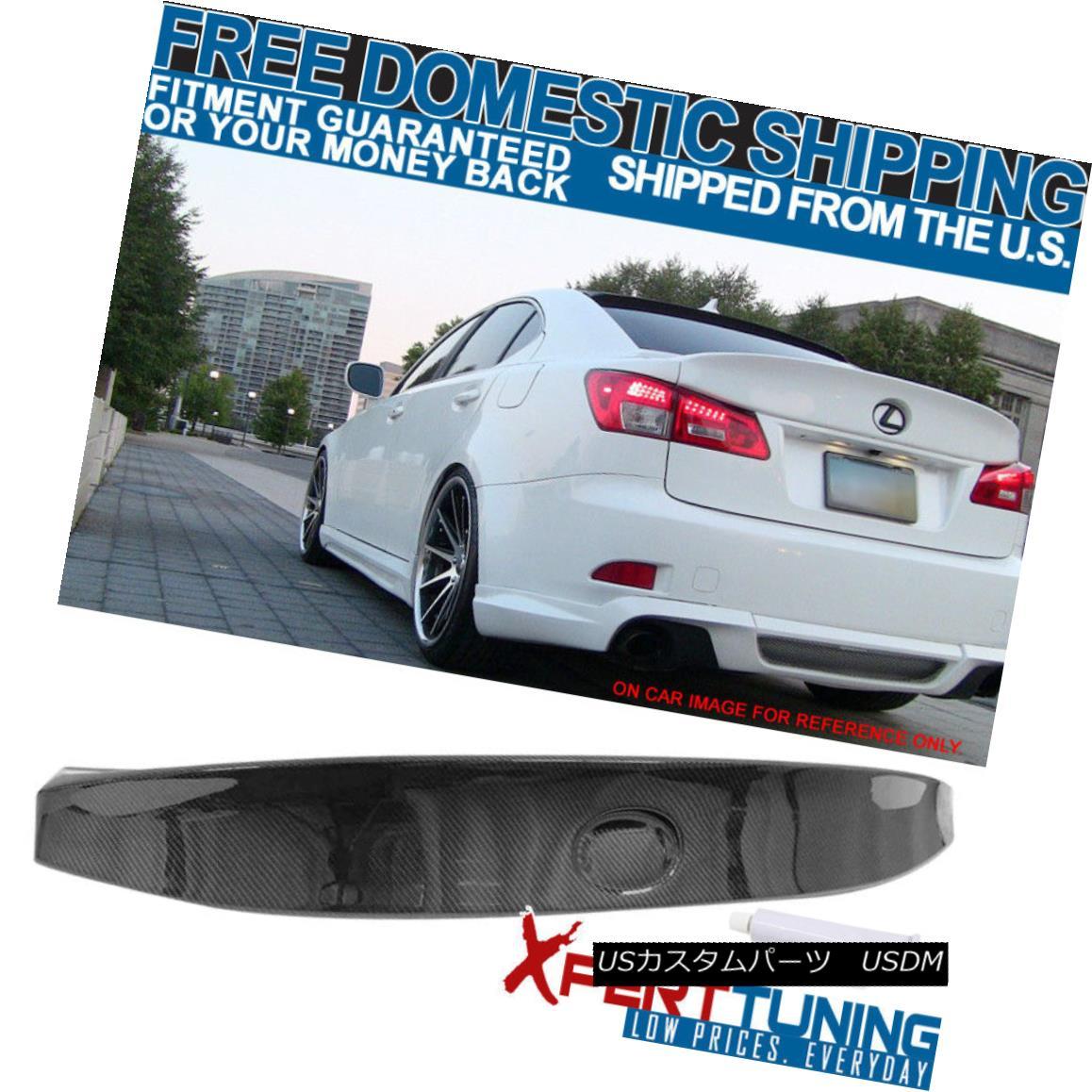 エアロパーツ Fit 06-13 Lexus IS250 IS350 Sedan WD Style CF Carbon Fiber Rear Trunk Spoiler フィット06-13レクサスIS250 IS350セダンWDスタイルCFカーボンファイバーリアトランク・スポイラー