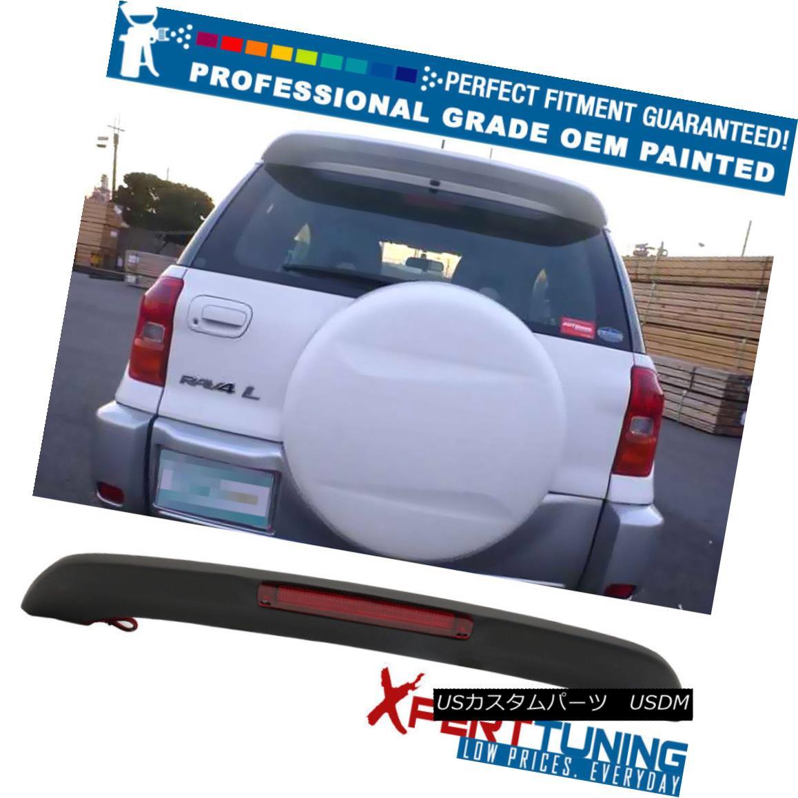 エアロパーツ Fit 01-05 Toyota RAV4 XA20 OE Factory Roof Spoiler &LED Brake OEM Painted Color フィット01-05トヨタRAV4 XA20 OE工場ルーフスポイラー&LEDブレーキOEM塗装色