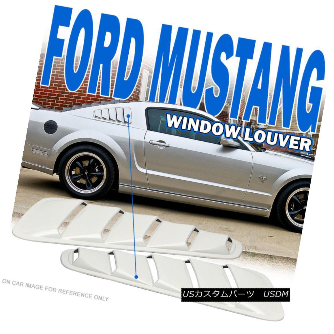 エアロパーツ Fit For 05-09 Mustang V6 Painted # HP Hi Performance White Window Louver - ABS 05-09 Mustang V6塗装済み#HPハイパフォーマンスホワイトウィンドウルーバー - ABS