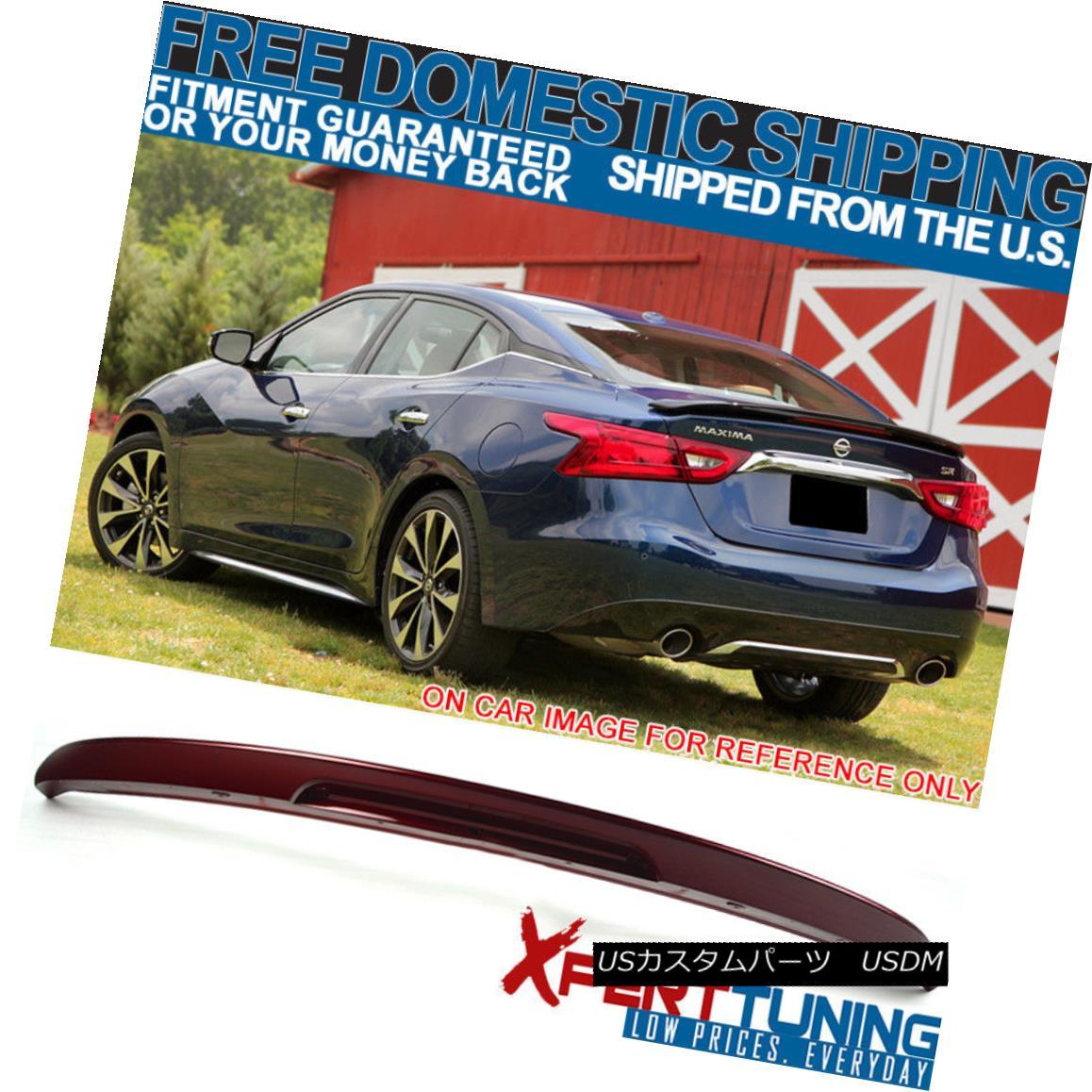 エアロパーツ Fits 16-18 Maxima OE2 Style Trunk Spoiler Painted Coulis Red #NAW - ABS フィット16-18マキシマOE2スタイルトランクスポイラー塗装Coulis赤#NAW - ABS