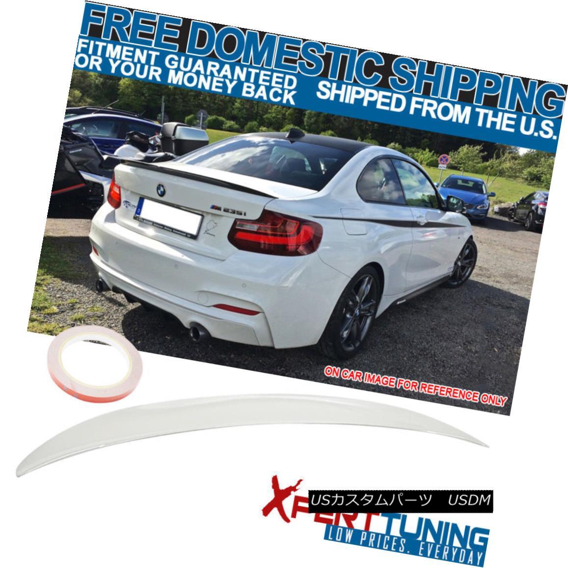 エアロパーツ 14-18 BMW 2 Series F22 Trunk Spoiler ABS Painted Alpine White III #300 14-18 BMW 2シリーズF22トランクスポイラーABS塗装アルパインホワイトIII#300