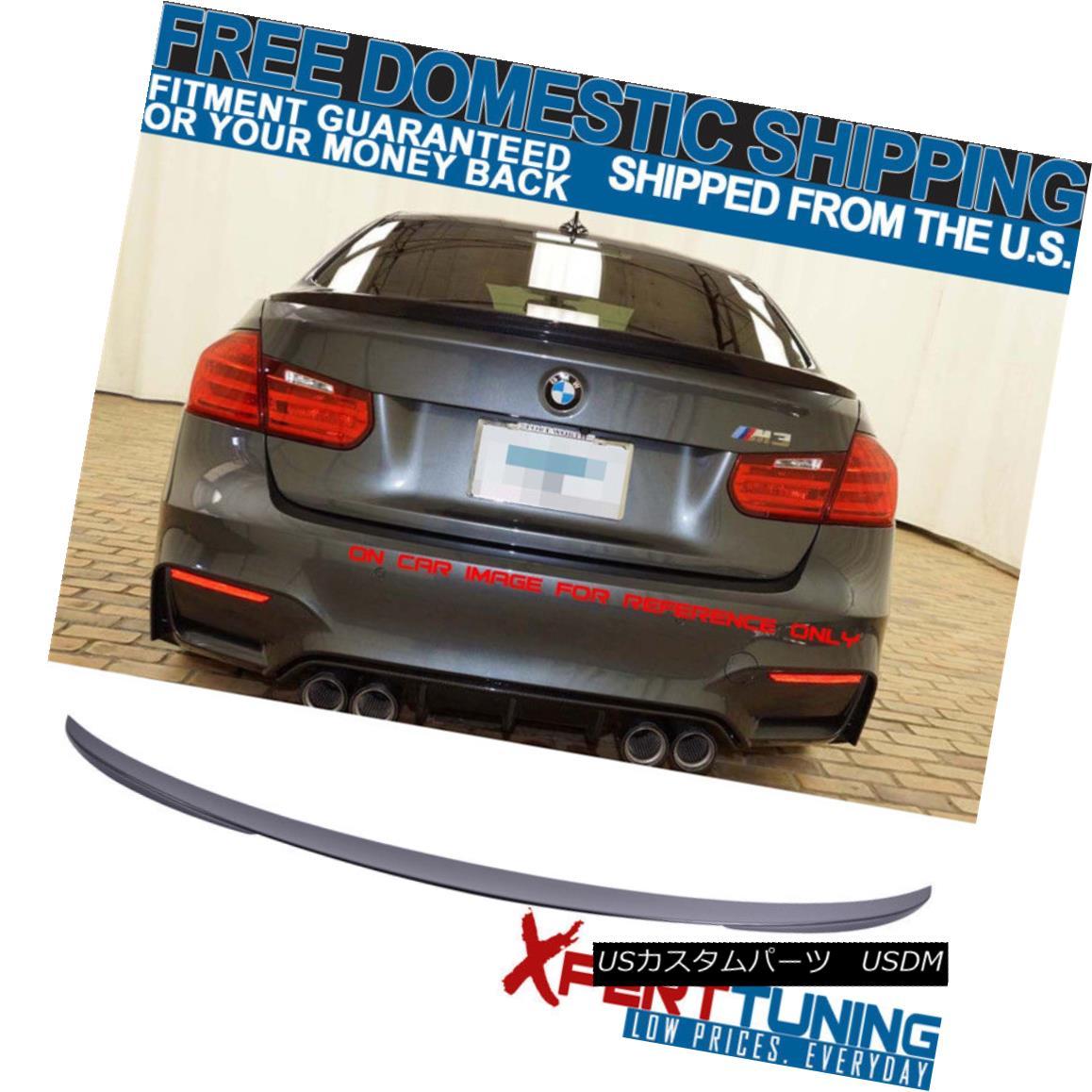 エアロパーツ Fit For 12-18 BMW 3-Series F30 4Dr P #668 Painted Matte Jet Black Trunk Spoiler BMW 3シリーズF30 4Dr P#668塗装マットジェットブラックトランク・スポイラー