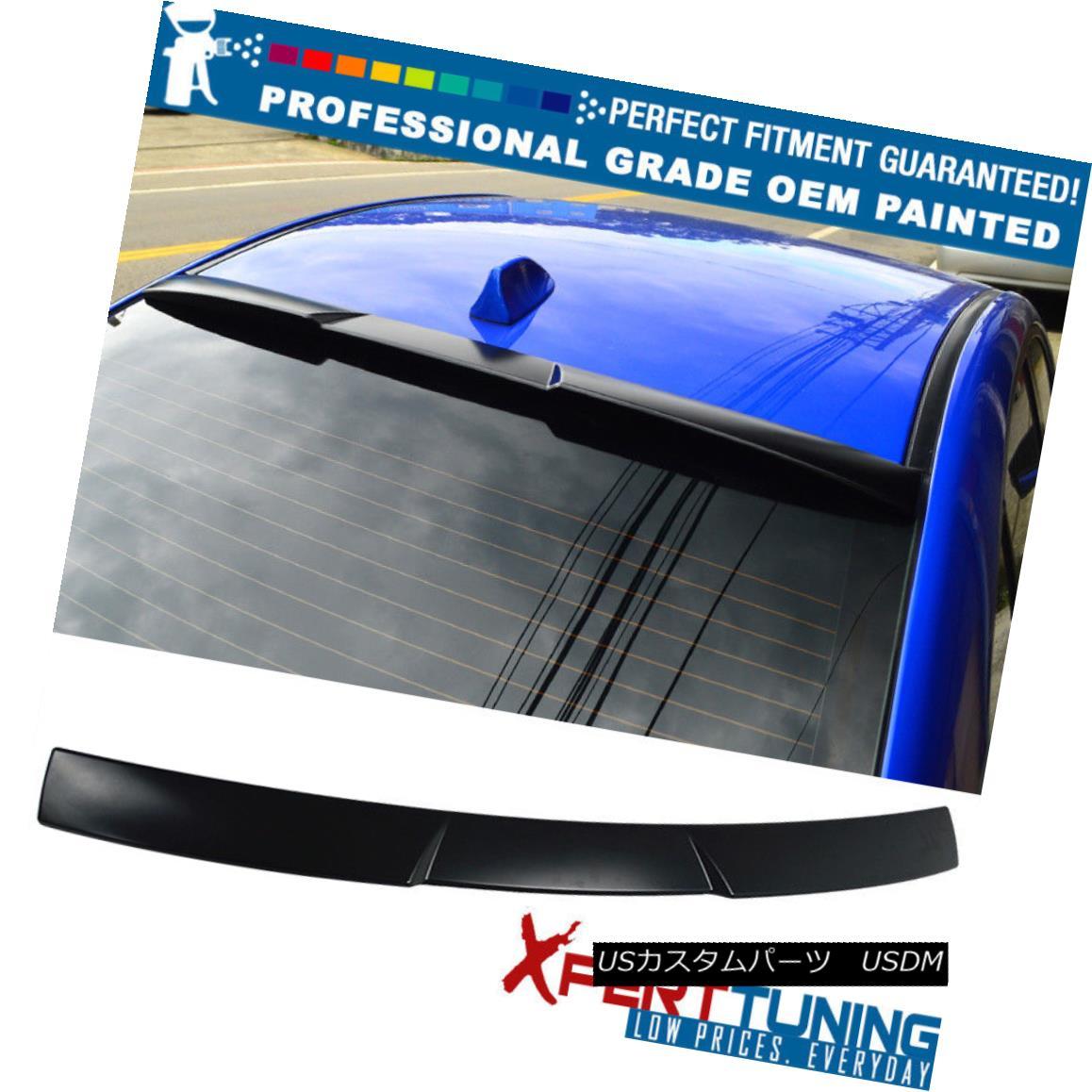 エアロパーツ Fits 15 18 Subaru WRX STI V Style Painted Roof Spoiler Wing OEM Painted Color フィット15 15 Subaru WRX STI Vスタイル塗装ルーフスポイラーウイングOEM塗装カラー