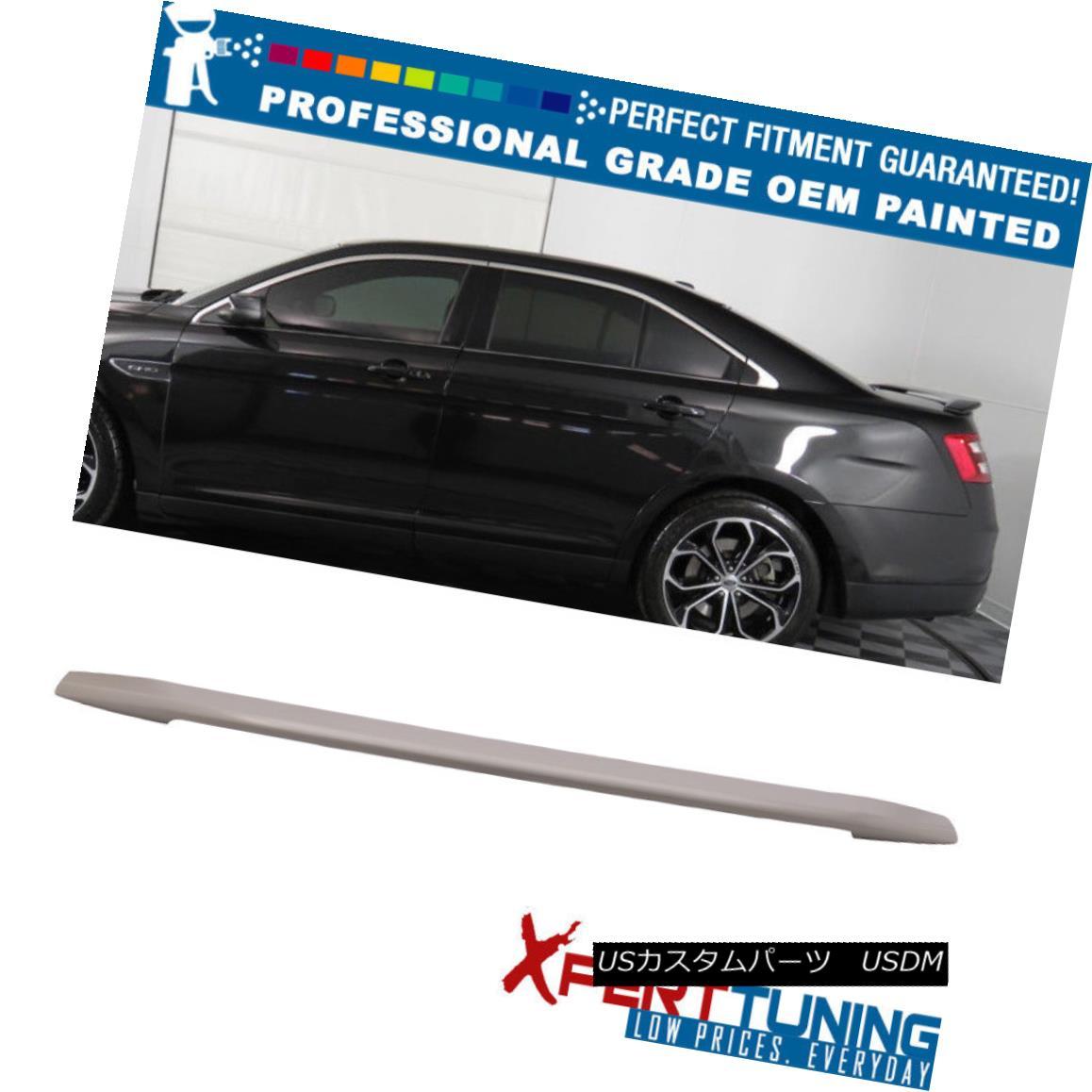 エアロパーツ Fits 13-15 Ford Taurus OE Style Flush Mount Trunk Spoiler - OEM Painted Color フィット13~15フォードトーラスOEスタイルフラッシュマウントトライムスポイラー - OEM塗装カラー