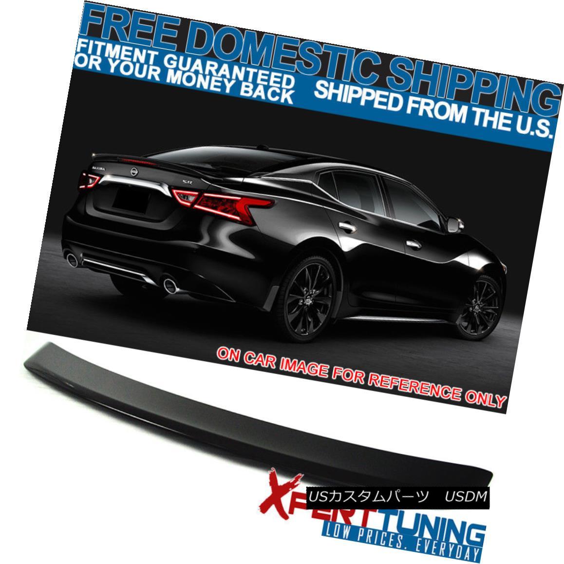 エアロパーツ Fits 16-18 Maxima OE2 Style Trunk Spoiler ABS Painted Bordeaux Black GAB フィット16-18マキシマOE2スタイルトランクスポイラーABS塗装ボルドーブラックGAB