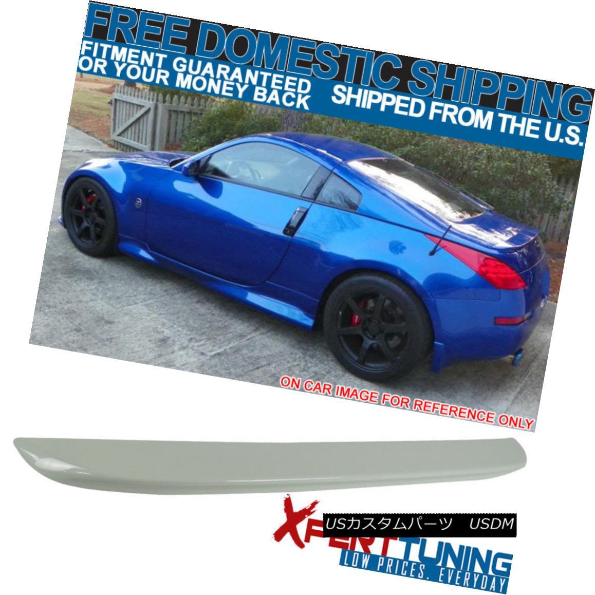 エアロパーツ Fits 03-08 Nissan 350Z Z33 OE Style ABS Trunk Spoiler Painted #QX1 Glacier Pearl フィット03-08日産350Z Z33 OEスタイルABSトランクスポイラー塗装#QX1氷河パール