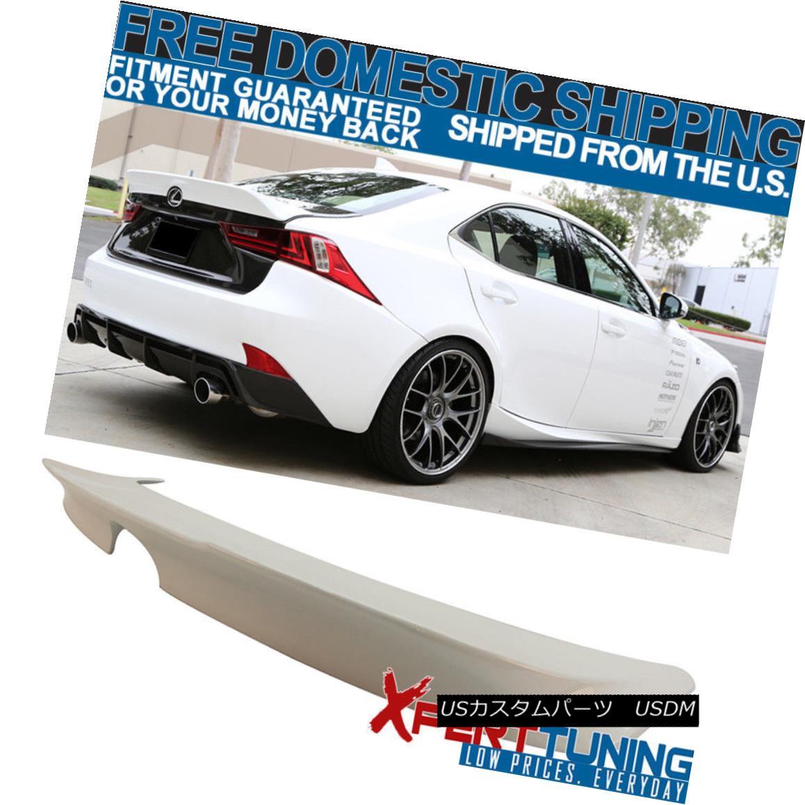 エアロパーツ Fit For 14-16 IS250 Painted Ultra White # 083 TRD Style Trunk Spoiler (ABS) 14-16 IS250塗装ウルトラホワイト#083 TRDスタイルトランクスポイラー(ABS)