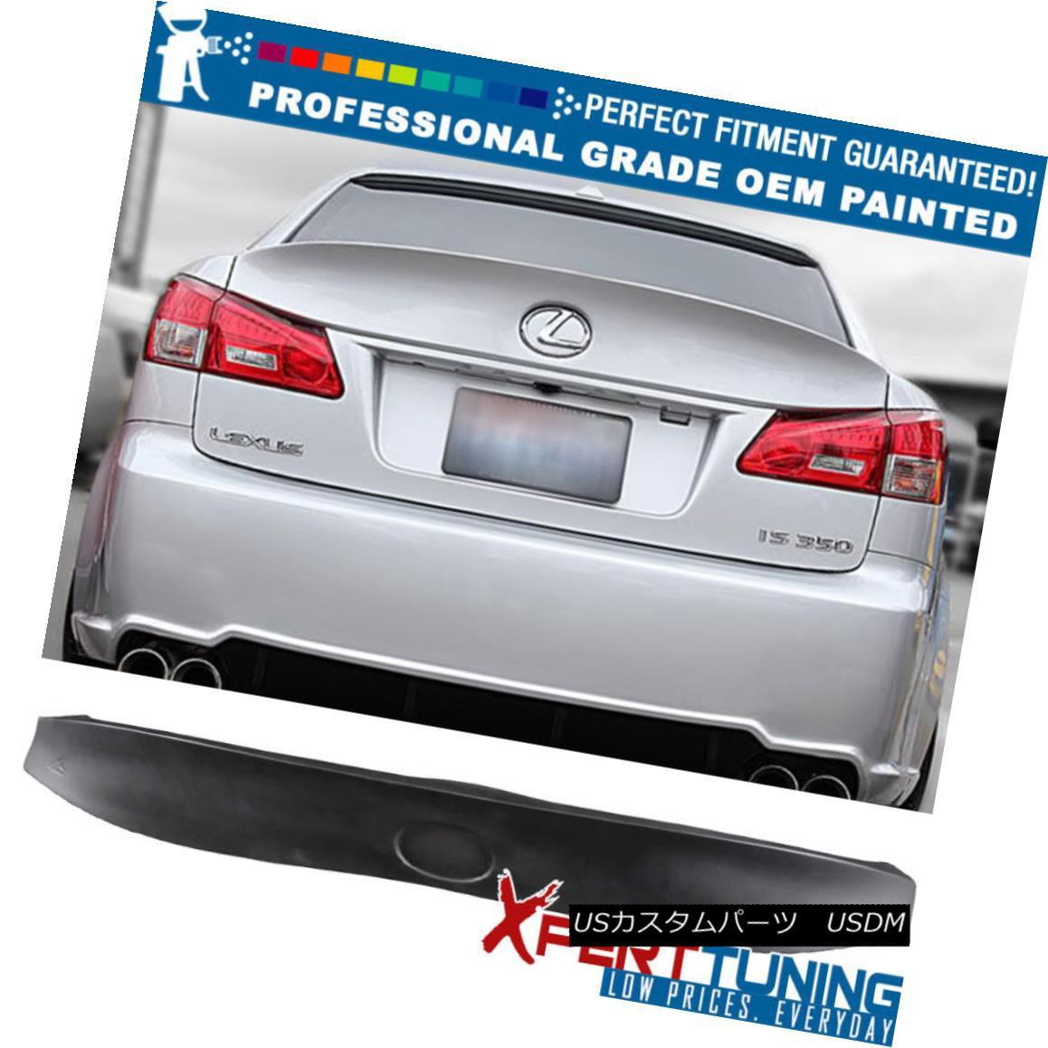 エアロパーツ Fit 06-13 Lexus IS250 IS350 IK Type ABS Trunk Spoiler - OEM Painted Color フィット06-13レクサスIS250 IS350 IKタイプABSトランク・スポイラー - OEM塗装カラー