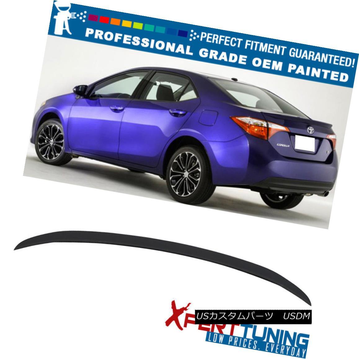 エアロパーツ Fit 14-18 Toyota Corolla Sedan OE Factory Trunk Spoiler Wing - OEM Painted Color フィット14-18トヨタカローラセダンOE工場トランクスポイラーウイング - OEM塗装色