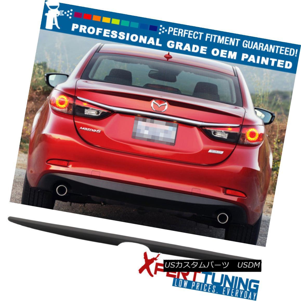 エアロパーツ Fit 14-18 Mazda6 Sedan OE Factory Flush Mount Trunk Spoiler OEM Painted Color フィット14-18 Mazda6セダンOE工場フラッシュマウントトレンクスポイラーOEM塗装色