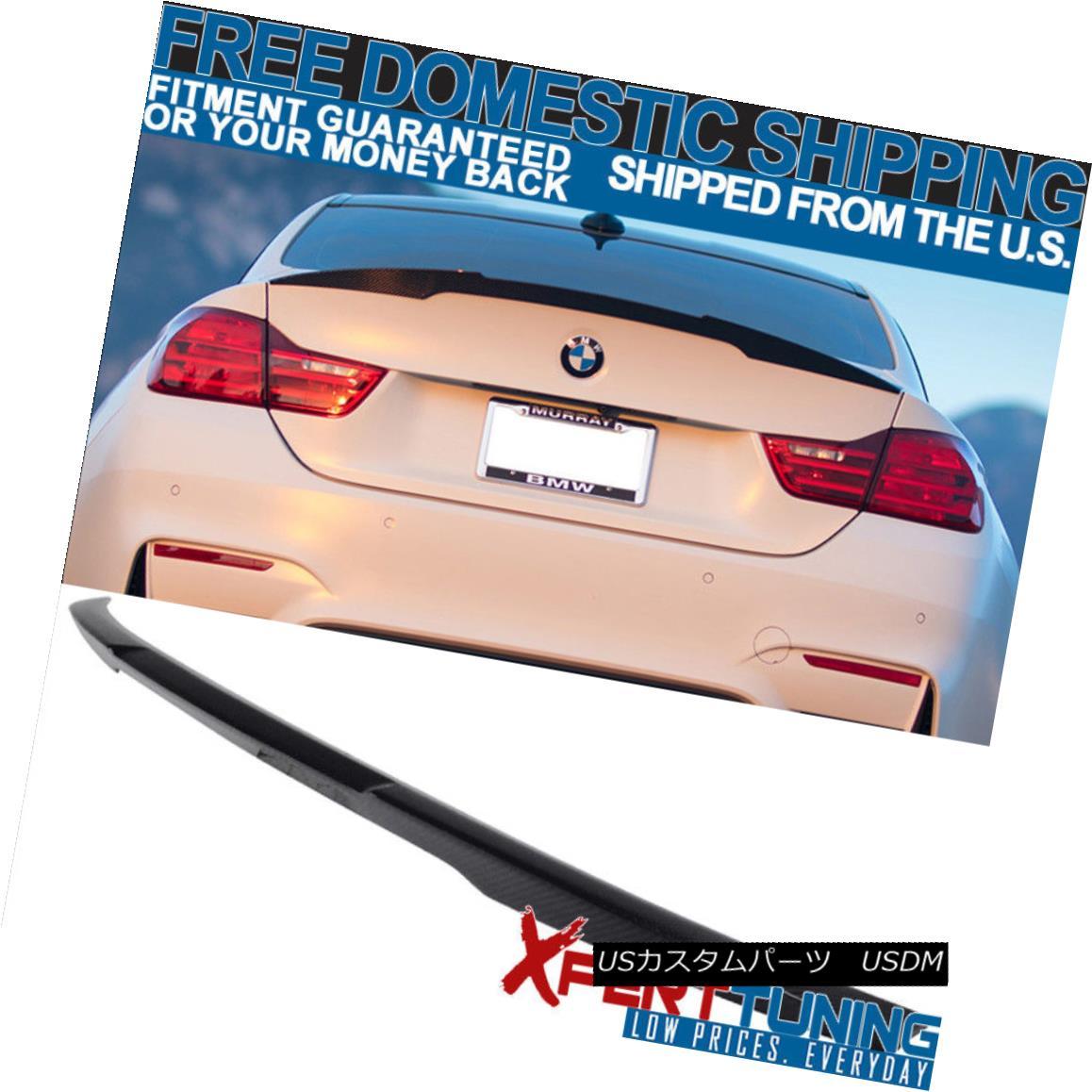 エアロパーツ Open Box Fits 15-17 BMW F82 M4 Coupe Performance Trunk Spoiler Carbon Fiber CF オープンボックス15-17 BMW F82 M4クーペパフォーマンストランクスポイラー炭素繊維CFに適合