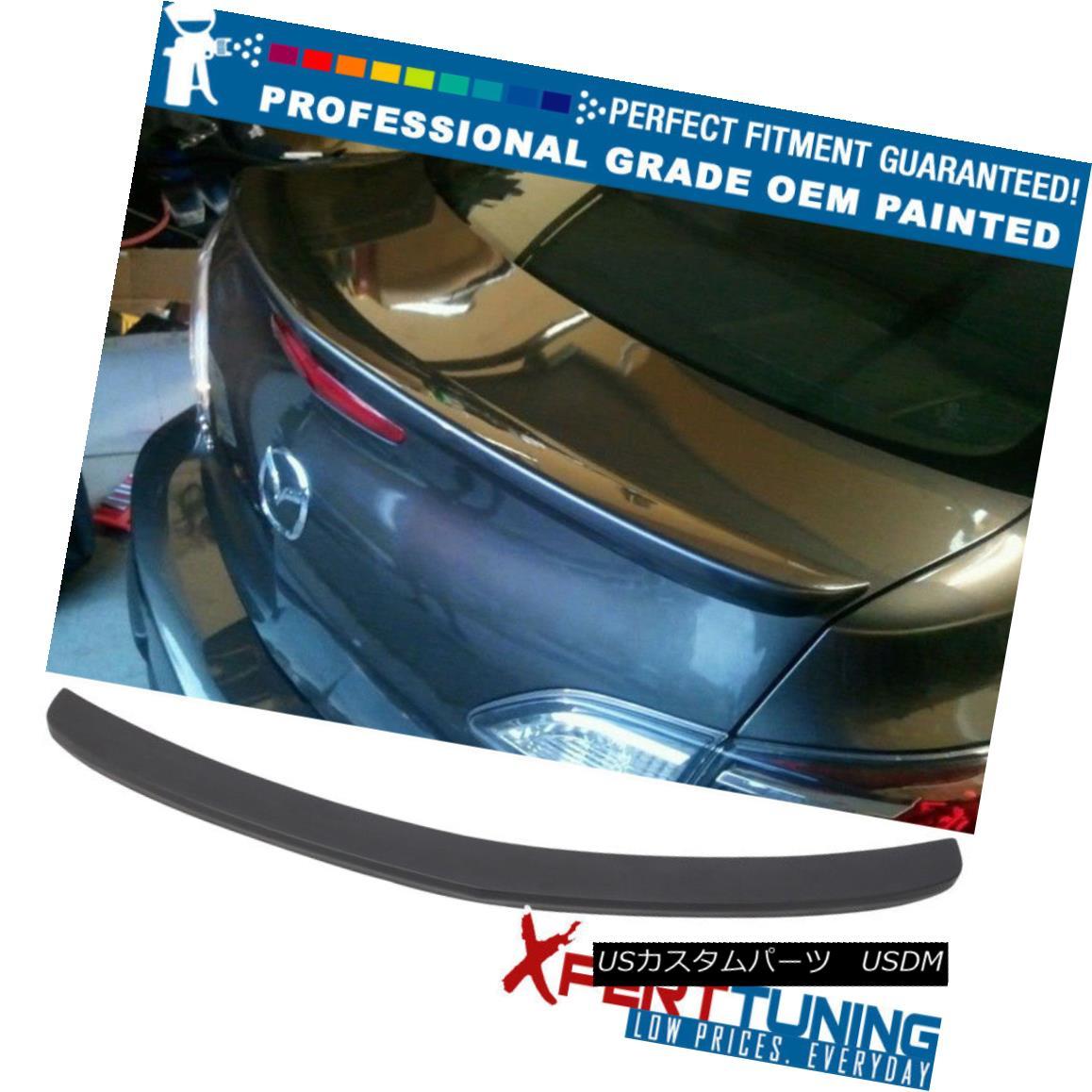 エアロパーツ Fit 10-13 Mazda 3 Mazda3 OE Style Painted Trunk Spoiler - OEM Painted Color フィット10-13マツダ3 Mazda3 OEスタイル塗装トランクスポイラー - OEM塗装カラー