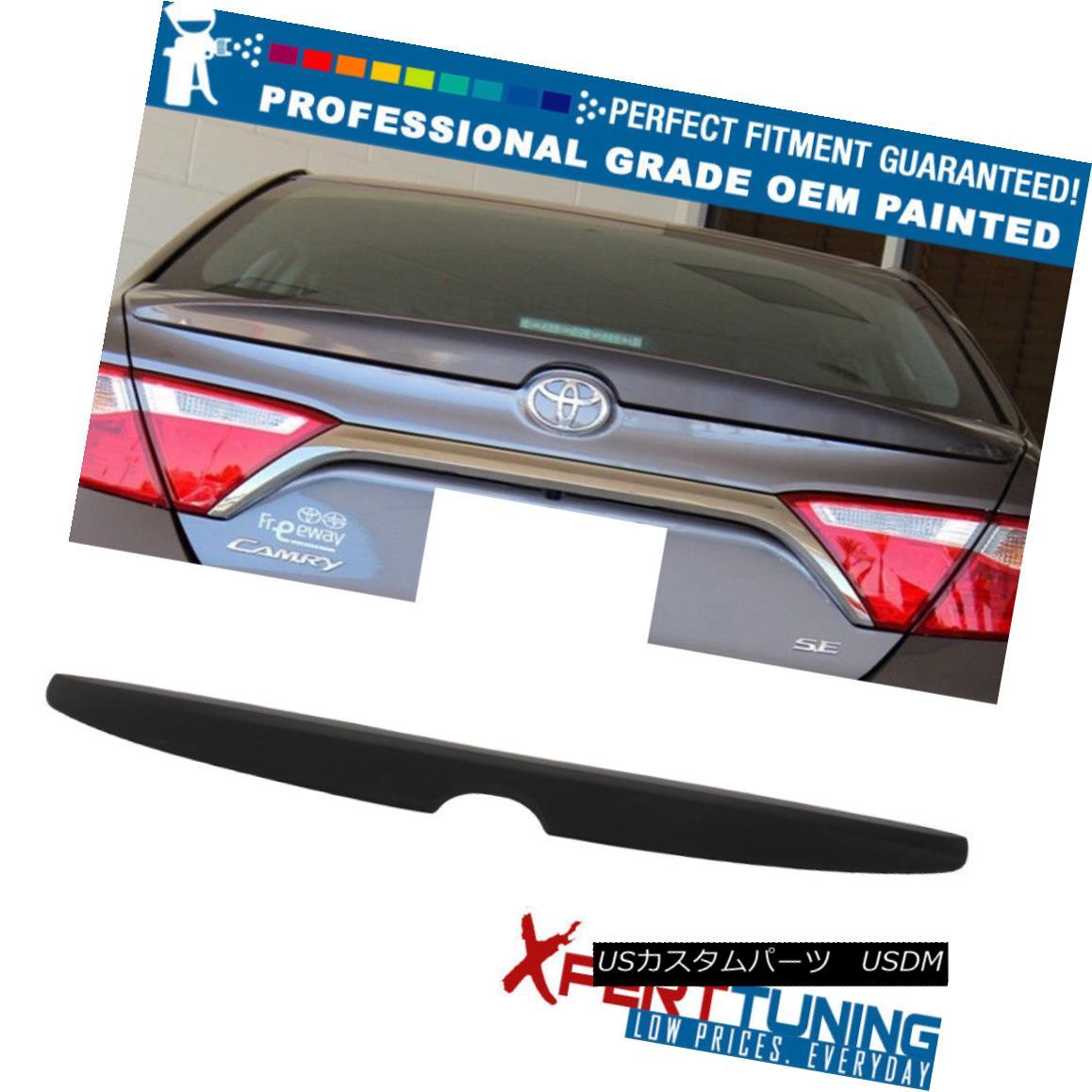 エアロパーツ Fit 15-17 Camry Sedan OE Factory Painted ABS Trunk Spoiler - OEM Painted Color フィット15-17カムリセダンOE工場塗装ABSトランクスポイラー - OEM塗装色