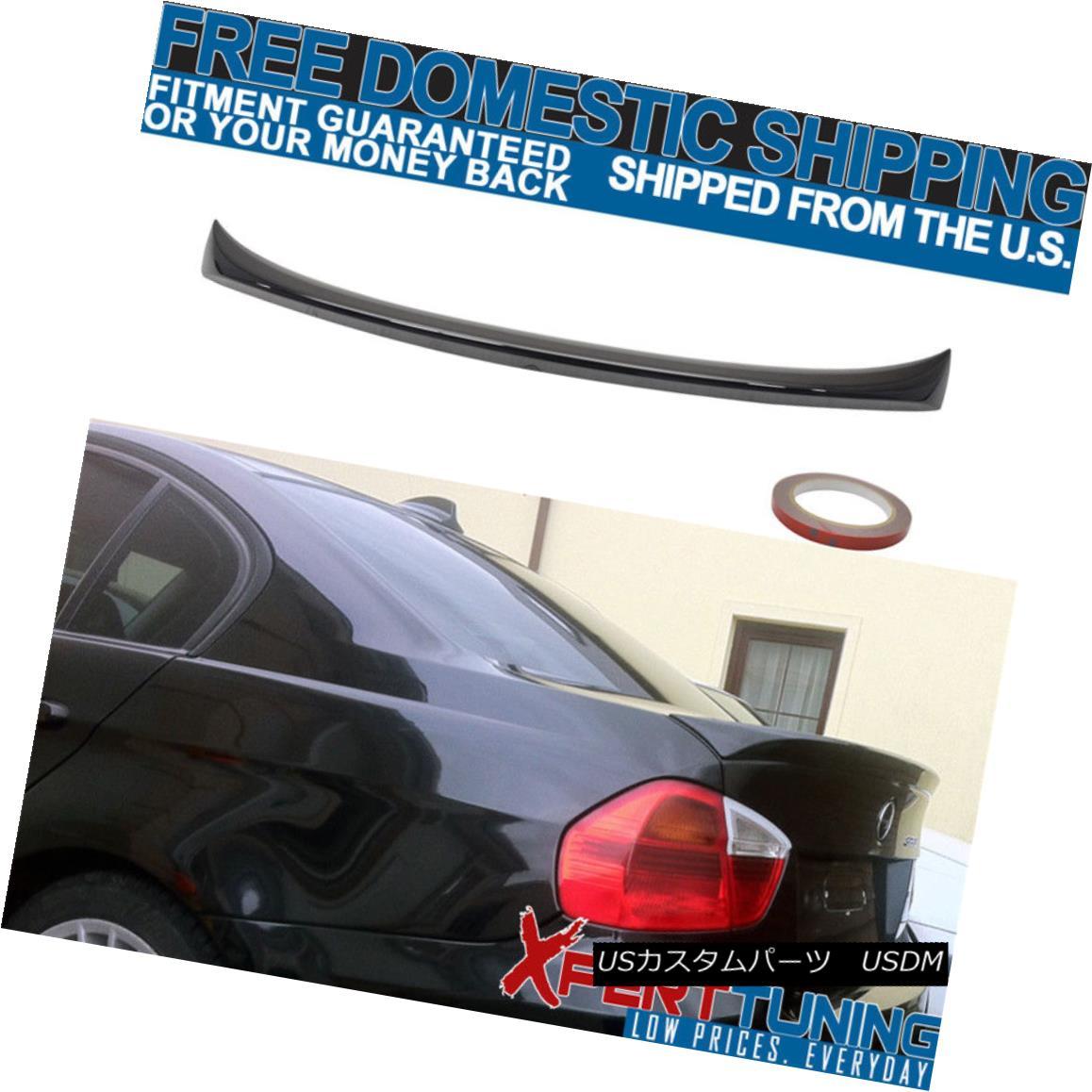 エアロパーツ Fit For 06-11 BMW 3 Series E90 4D OE Style Jet Black # 668 Painted Trunk Spoiler BMW 3シリーズE90 4D OEスタイルジェットブラック#668塗装トランクスポイラー