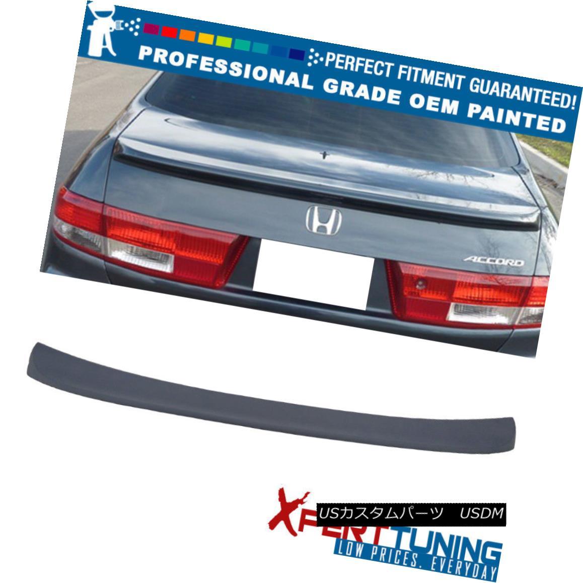 エアロパーツ 03-05 Honda Accord Sedan OE Factory Style ABS Trunk Spoiler - OEM Painted Color 03-05ホンダアコードセダンOEファクトリースタイルABSトランク・スポイラー - OEM塗装カラー