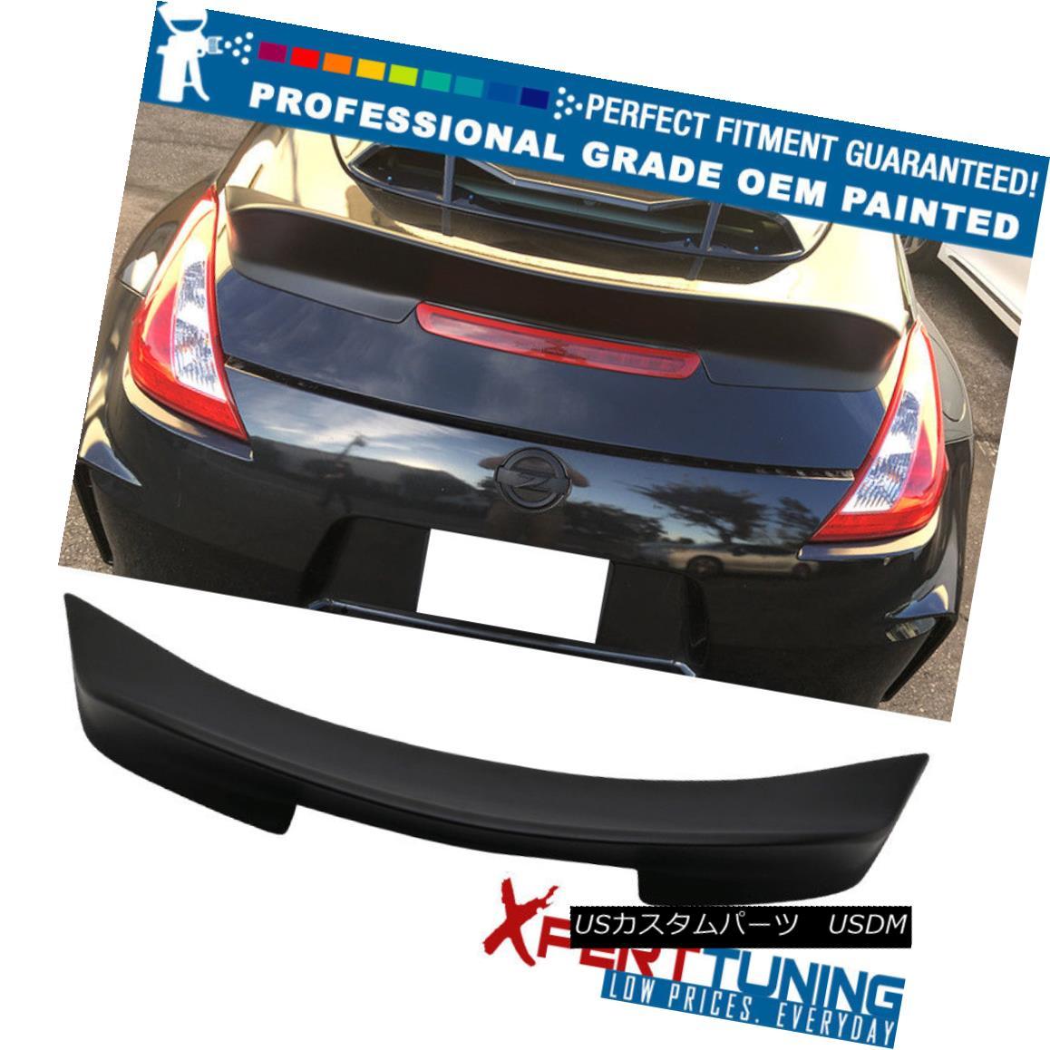 エアロパーツ Fits 09-18 Nissan 370Z Ikon Style Duckbill Trunk Spoiler - OEM Painted Color フィット09-18日産370Zイコンスタイルダックビルトランクスポイラー - OEM塗装カラー