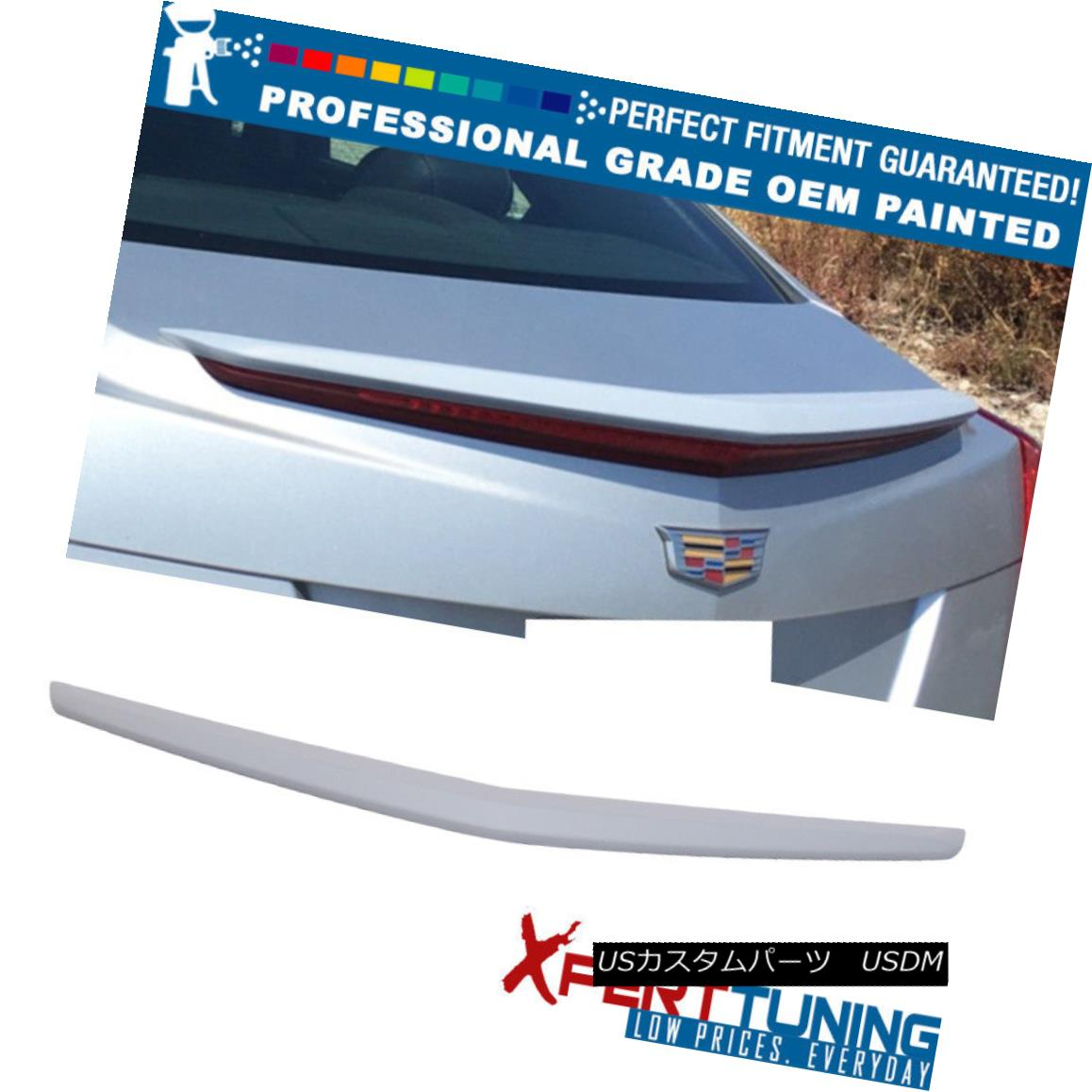 エアロパーツ Fit 13-18 Cadillac ATS OE Factory Painted Trunk Spoiler - OEM Painted Color フィット13-18キャデラックATS OE工場塗装トランクスポイラー - OEM塗装色