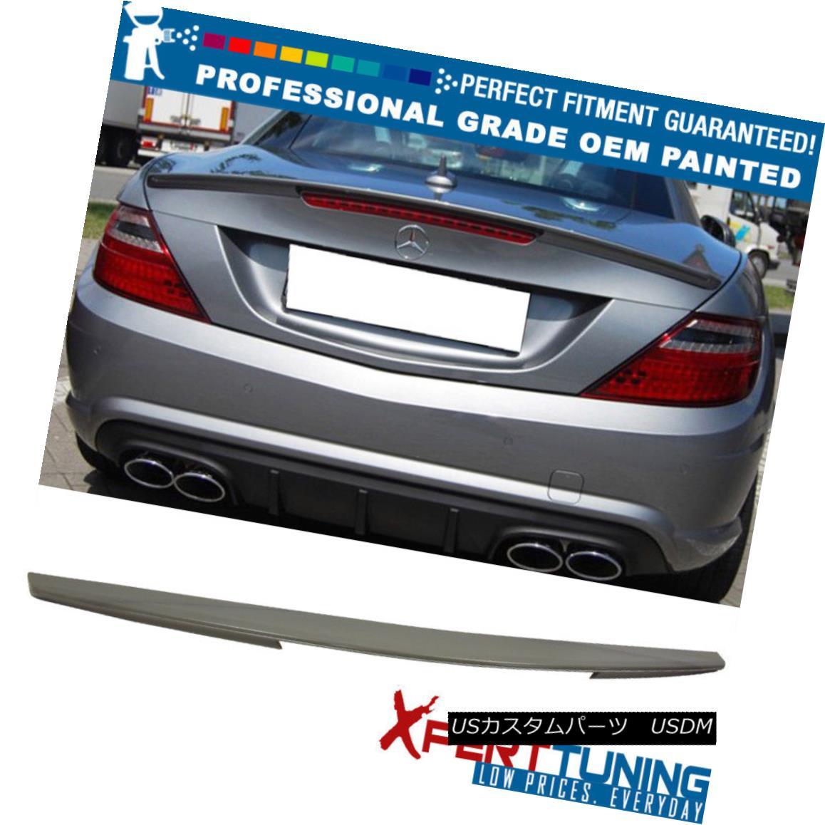 エアロパーツ Fits 11-15 SLK R172 AMG Style Painted ABS Trunk Spoiler - OEM Painted Color 11-15 SLK R172 AMGスタイル塗装ABSトランク・スポイラー - OEM塗装カラーに適合