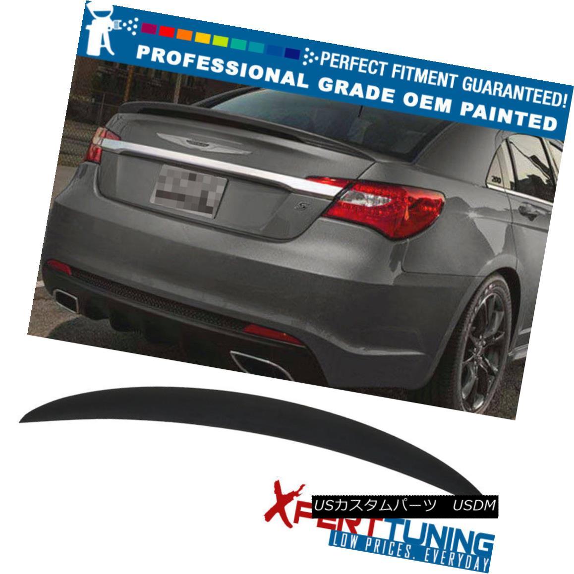 エアロパーツ Fit 11-14 Chrysler 200 4D OE Style Painted Trunk Spoiler - OEM Painted Color フィット11-14クライスラー200 4D OEスタイル塗装トランクスポイラー - OEM塗装カラー