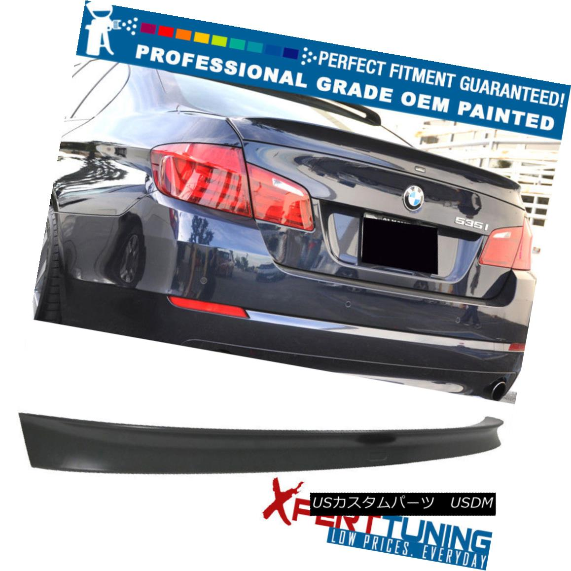 エアロパーツ 11-16 BMW 5 Series F10 4Dr AC Style Painted Trunk Spoiler - OEM Painted Color 11-16 BMW 5シリーズF10 4Dr ACスタイル塗装トランク・スポイラー - OEM塗装カラー