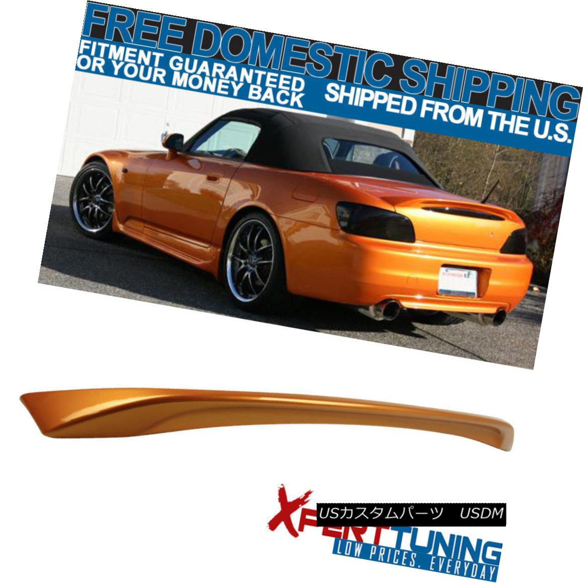 エアロパーツ 05-07 S2000 AP2 ABS Trunk Spoiler Painted Imola Orange Pearl # YR536P - ABS 05-07 S2000 AP2 ABSトランク・スポイラー・イモラ・オレンジ・パール#YR536P - ABS