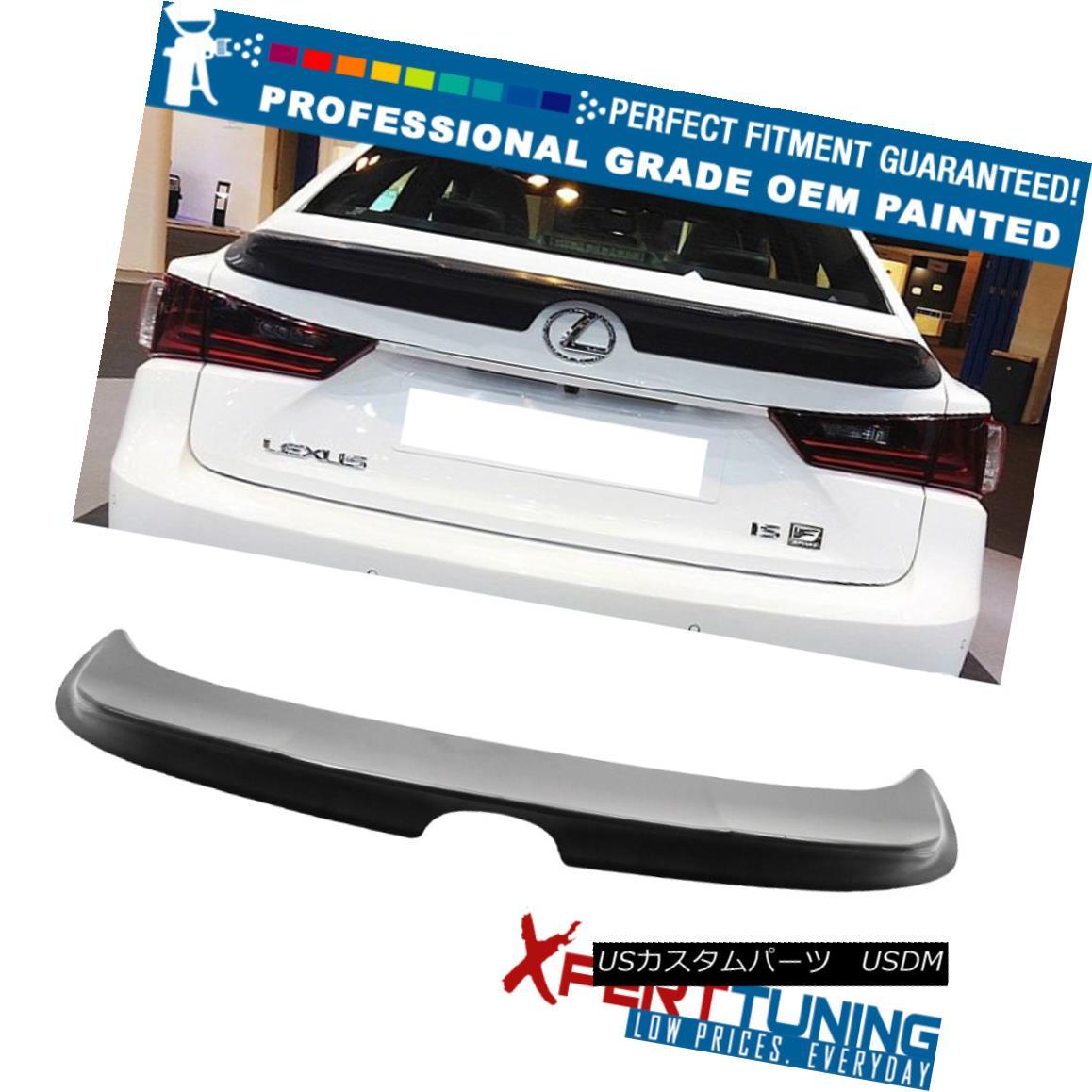 エアロパーツ Fit 14-16 Lexus IS250 TRD Style Trunk Spoiler OEM Painted Color Available フィット14-16レクサスIS250 TRDスタイルのトランク・スポイラーOEM塗装カラー