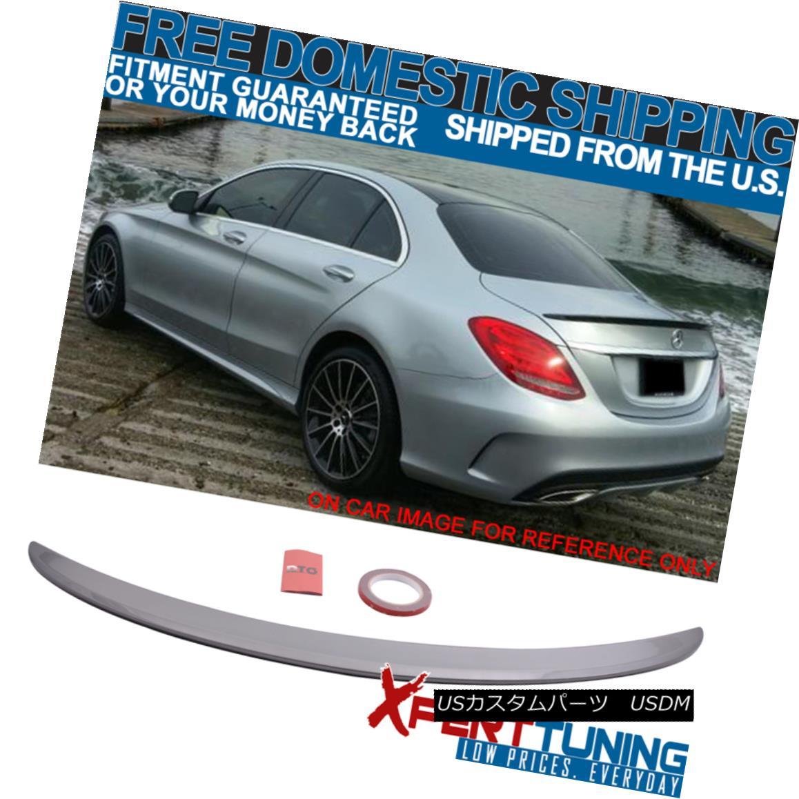 エアロパーツ Fit 15-18 W205 AMG Trunk Spoiler Painted Palladium Silver Metallic # 792 フィット15-18 W205 AMGトランクスポイラーペイントパラジウムシルバーメタリック#792