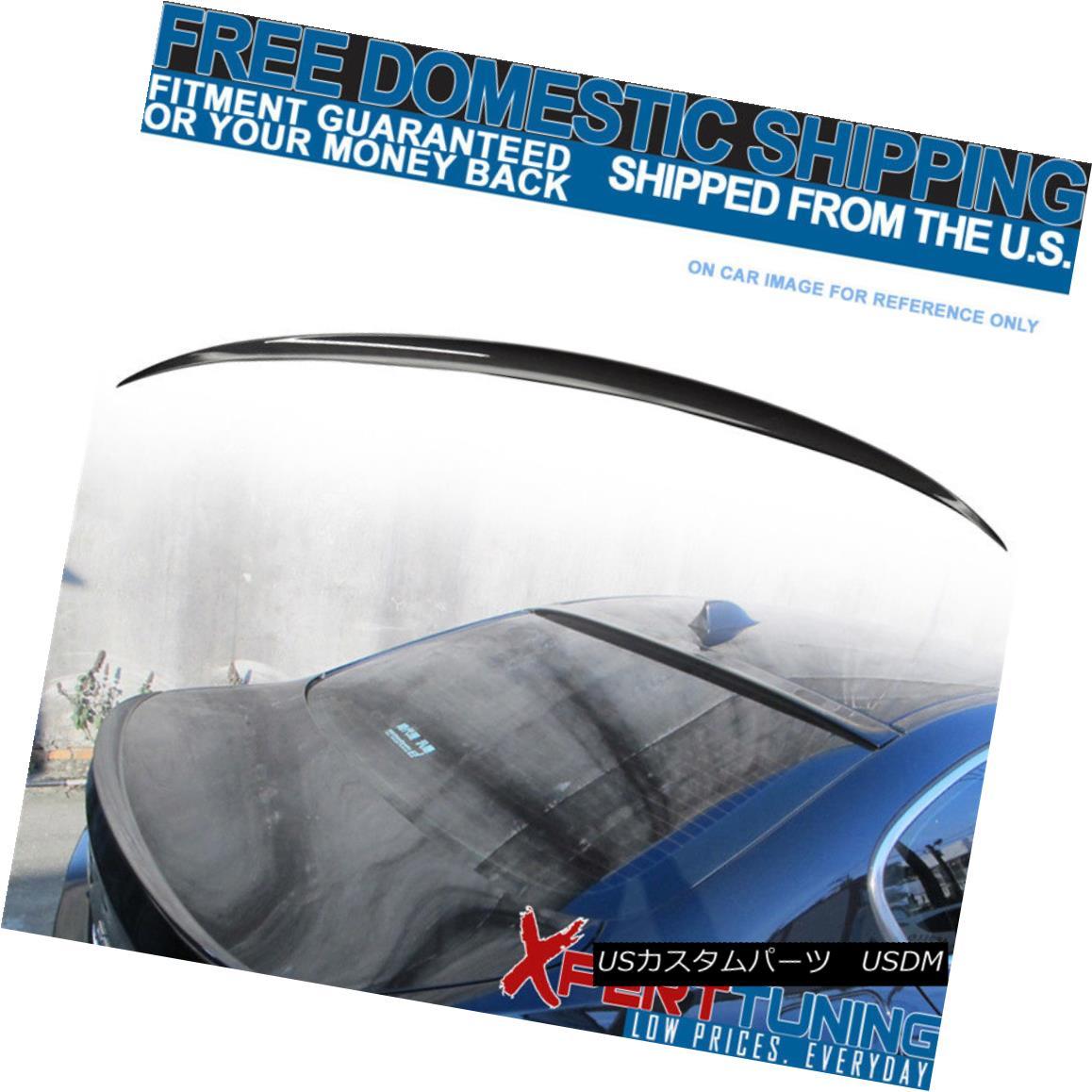 エアロパーツ Fit For 11-16 BMW 5-Series F10 4Dr Sedan M5 Style #A90 Painted Trunk Spoiler 11-16 BMW 5シリーズF10 4DrセダンM5スタイル#A90塗装トランク・スポイラー