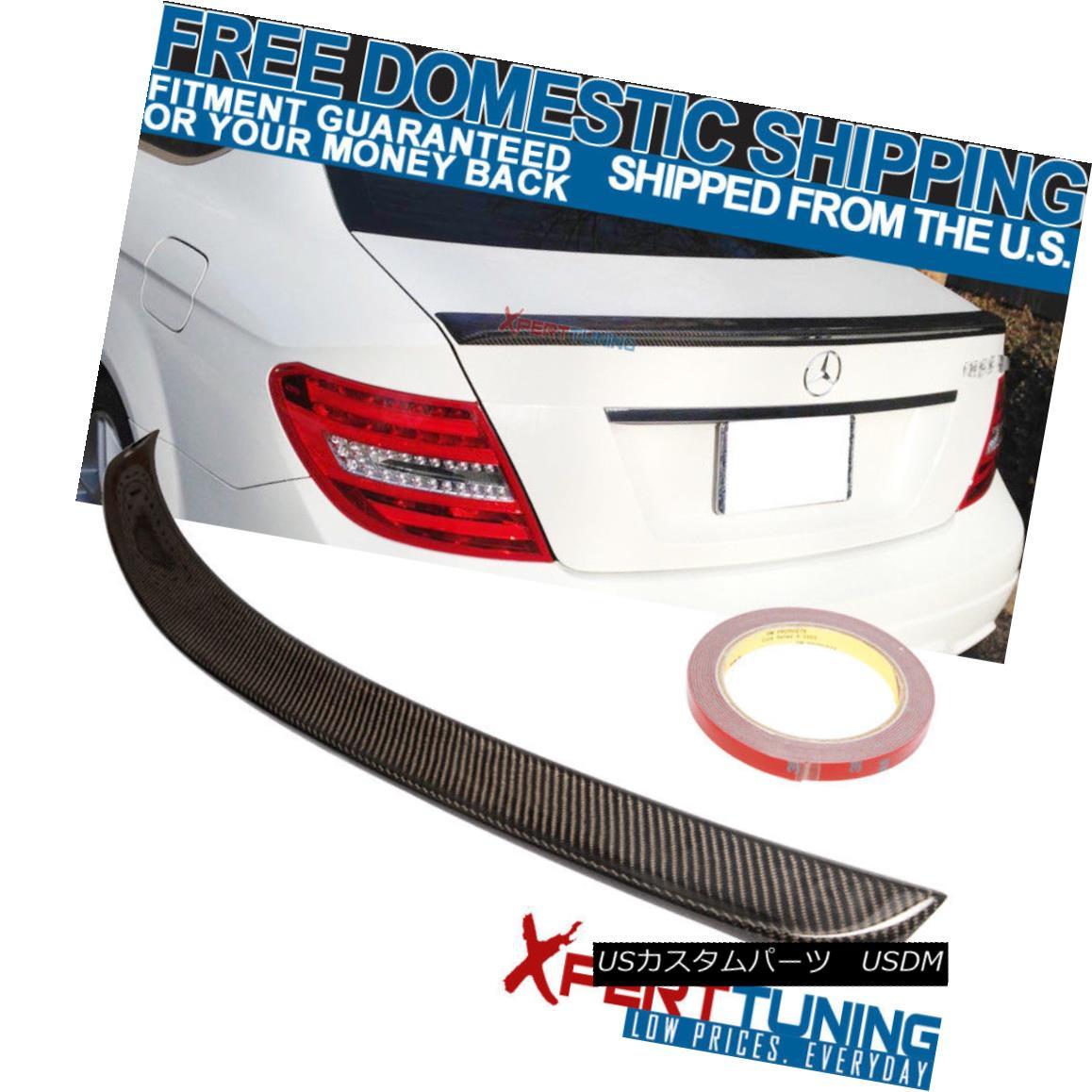 エアロパーツ 2012-2015 Benz C-Class C204 A Style Trunk Spoiler - Carbon Fiber CF 2012-2015ベンツCクラスC204スタイルトランク・スポイラー - 炭素繊維CF