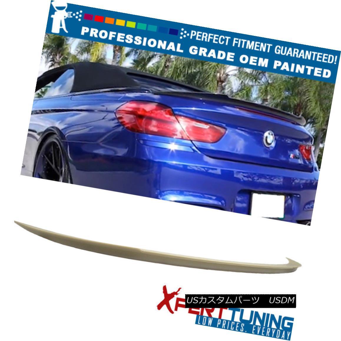 エアロパーツ 12-17 BMW F12 Convertible V Type Painted ABS Trunk Spoiler - OEM Painted Color 12-17 BMW F12コンバーチブルV型塗装ABSトランク・スポイラー - OEM塗装色