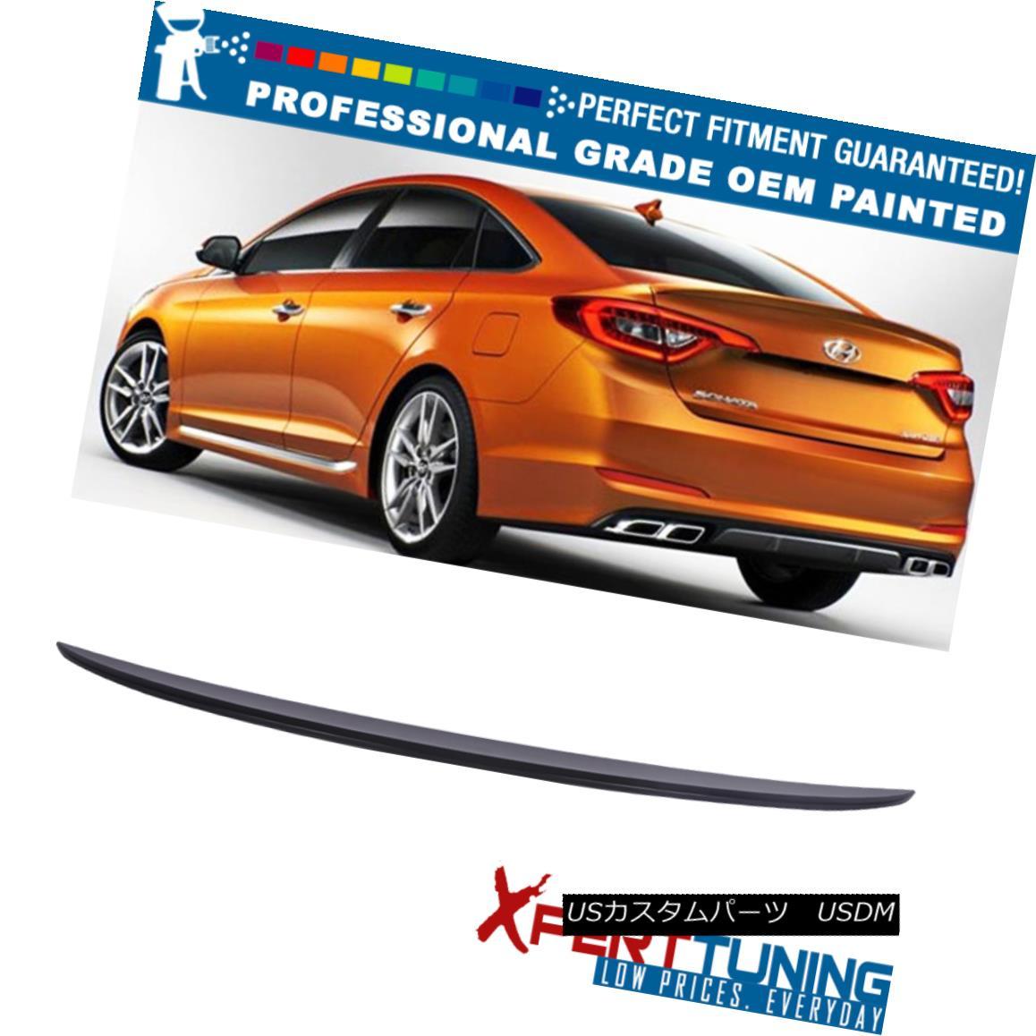 エアロパーツ 15-17 Fits Hyundai Sonata LF Factory Painted Trunk Spoiler - OEM Painted Color 現代ソナタLF工場塗装トランク・スポイラー - OEM塗装色