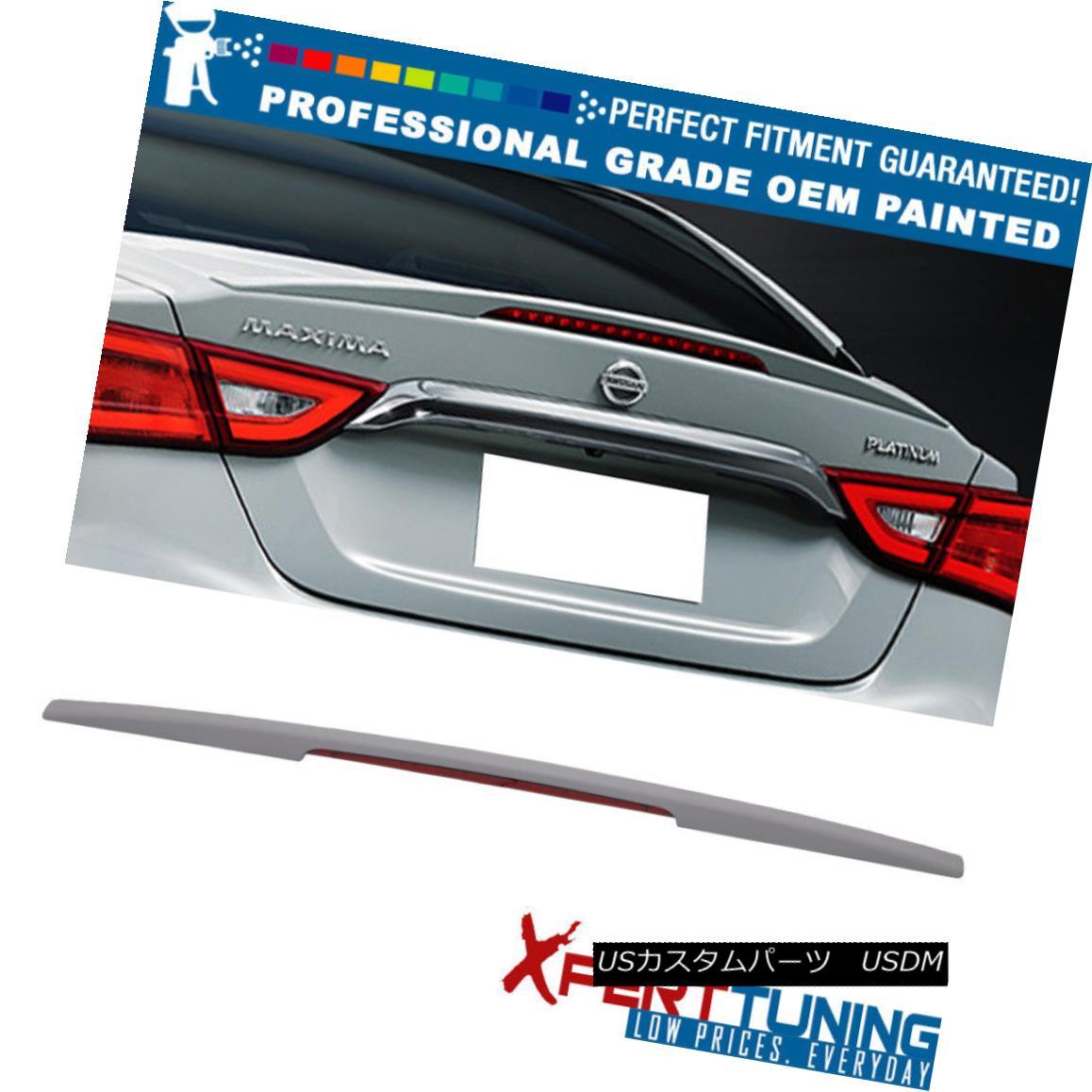 エアロパーツ Fits 16-18 Maxima A36 8TH OE Style Painted ABS Trunk Spoiler OEM Painted Color フィット16-18マキシマA36 8TH OEスタイル塗装ABSトランクスポイラーOEM塗装色