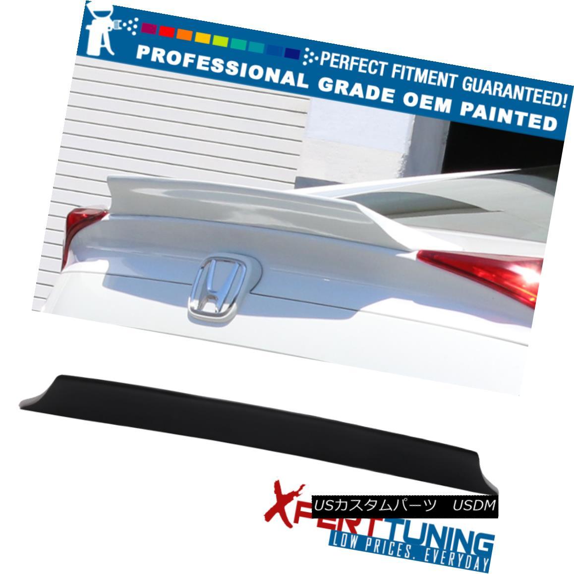 エアロパーツ 16-18 10th FC Civic Sedan IKON Painted ABS Trunk Spoiler - OEM Painted Color 16-18 10th FCシビックセダンIKON塗装ABSトランクスポイラー - OEM塗装色