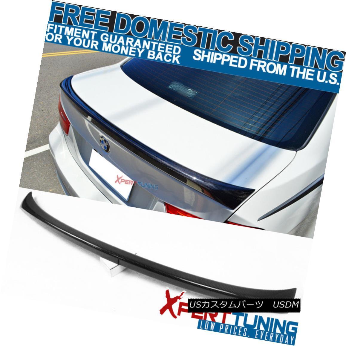 エアロパーツ Fit For 06-11 E90 3 Series 4Dr 4Door CF Carbon Fiber OE Style Trunk Spoiler Wing フィット06-11 E90 3シリーズ4Dr 4Door CFカーボンファイバーOEスタイルトランクスポイラーウイング