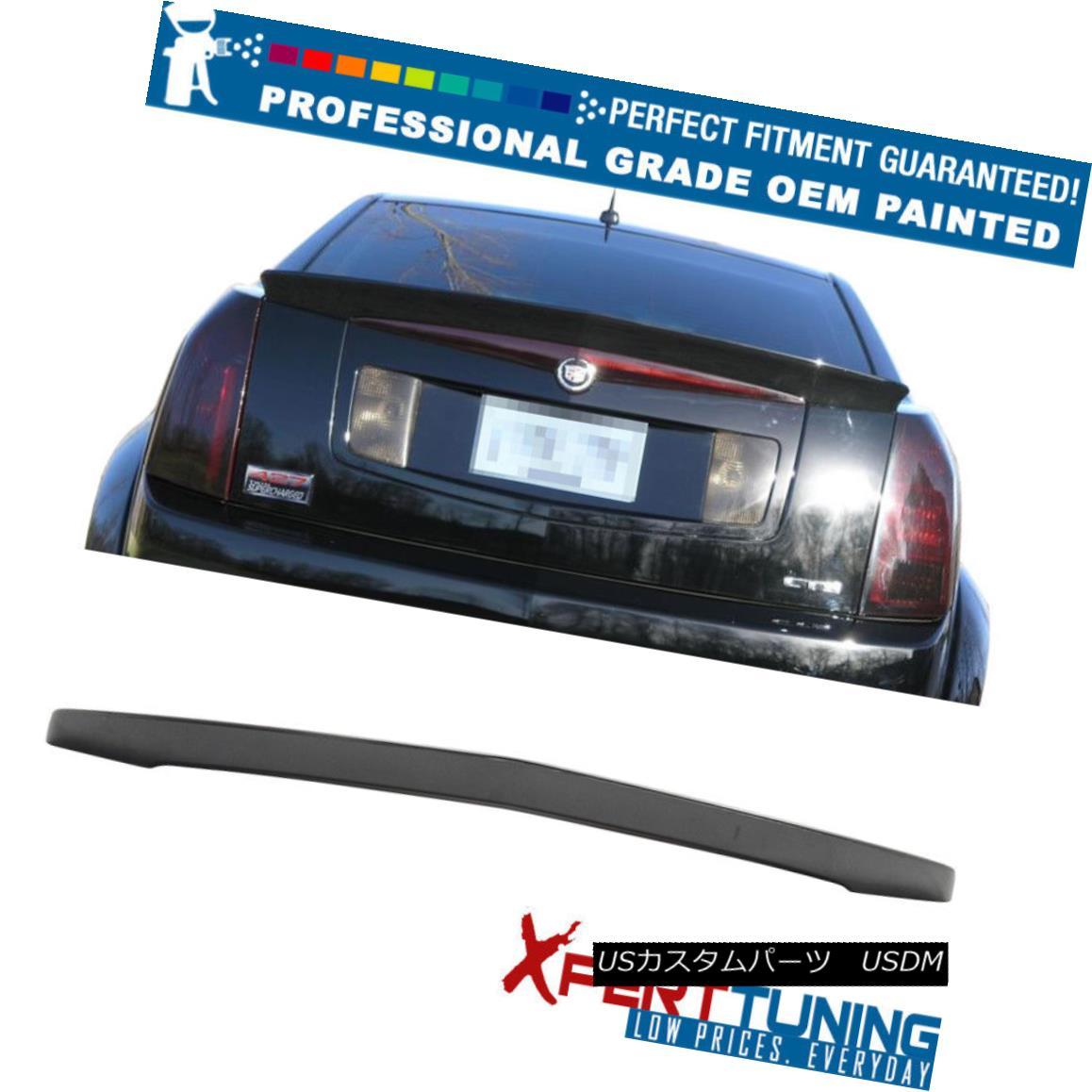 エアロパーツ 03-07 Cadillac CTS OE Style Painted ABS Trunk Spoiler - OEM Painted Color 03-07キャデラックCTS OEスタイル塗装ABSトランク・スポイラー - OEM塗装カラー