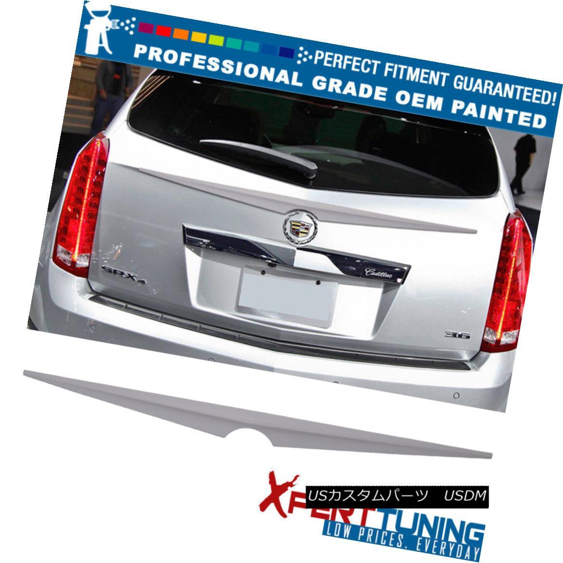 エアロパーツ Fits 10-16 Cadillac SRX SUV Painted ABS Trunk Spoiler - OEM Painted Color フィット10-16キャデラックSRX SUV塗装ABSトランクスポイラー - OEM塗装色