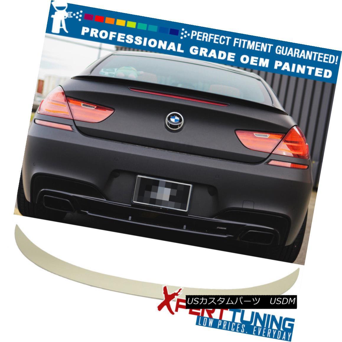 エアロパーツ 12-17 6 Series F13 2Dr 4Dr M6 Style Painted Trunk Spoiler - OEM Painted Color 12-17 6シリーズF13 2Dr 4Dr M6スタイル塗装トランク・スポイラー - OEM塗装色