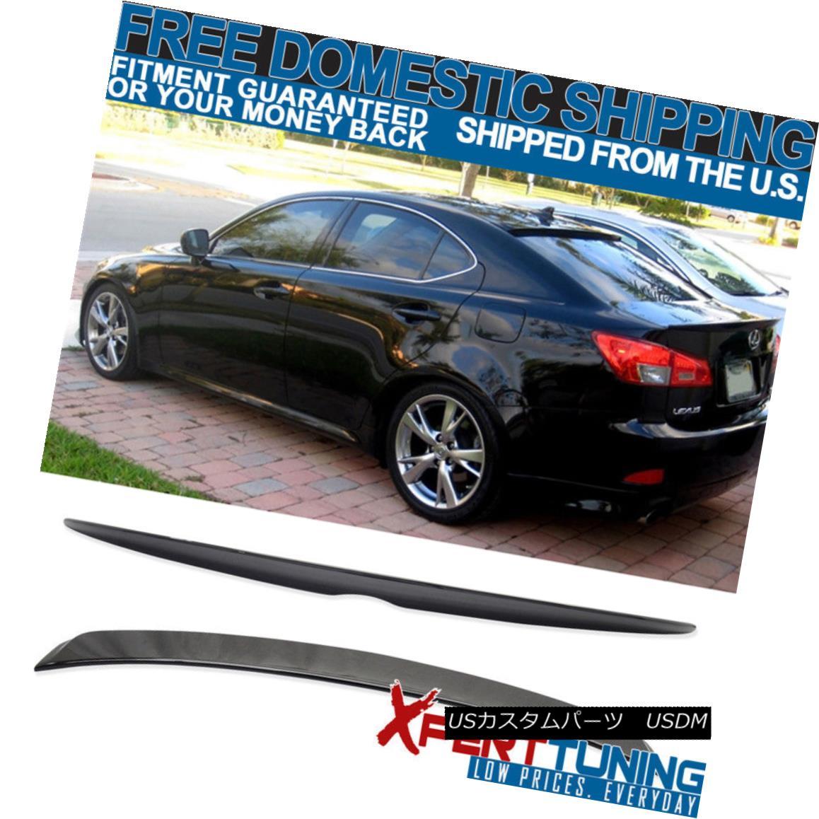 エアロパーツ Fit 06-13 IS250 IS350 OE Trunk Spoiler + Roof Spoiler Painted # 202 Black ABS フィット06-13 IS250 IS350 OEトランク・スポイラー+ルーフスポイラー#202黒色塗装