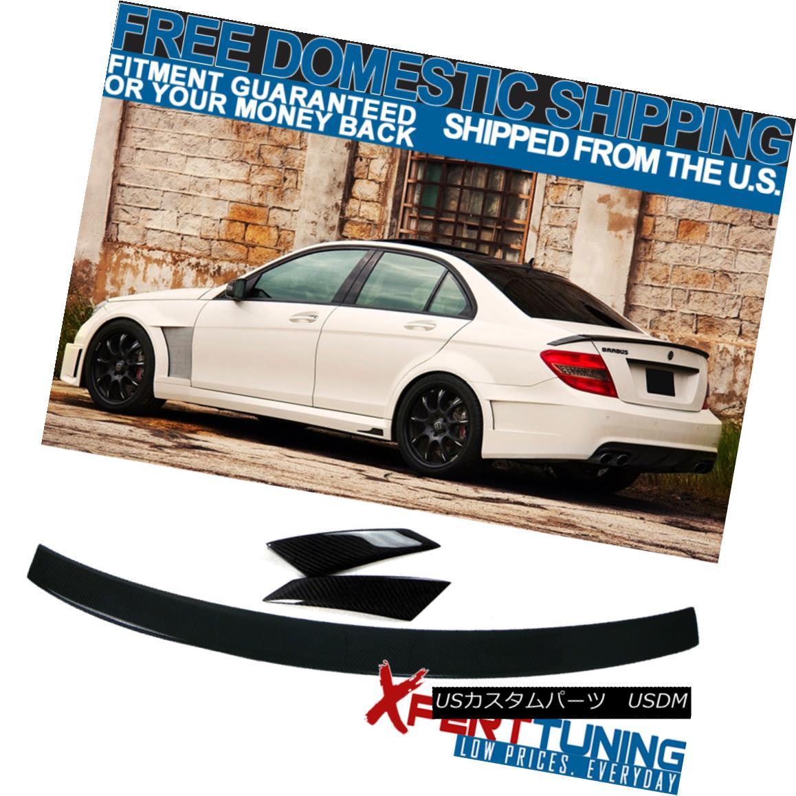 エアロパーツ 08-14 Benz C-Class W204 B Style Trunk Spoiler - Carbon Fiber (CF) 08-14ベンツCクラスW204 Bスタイルトランク・スポイラー - 炭素繊維(CF)